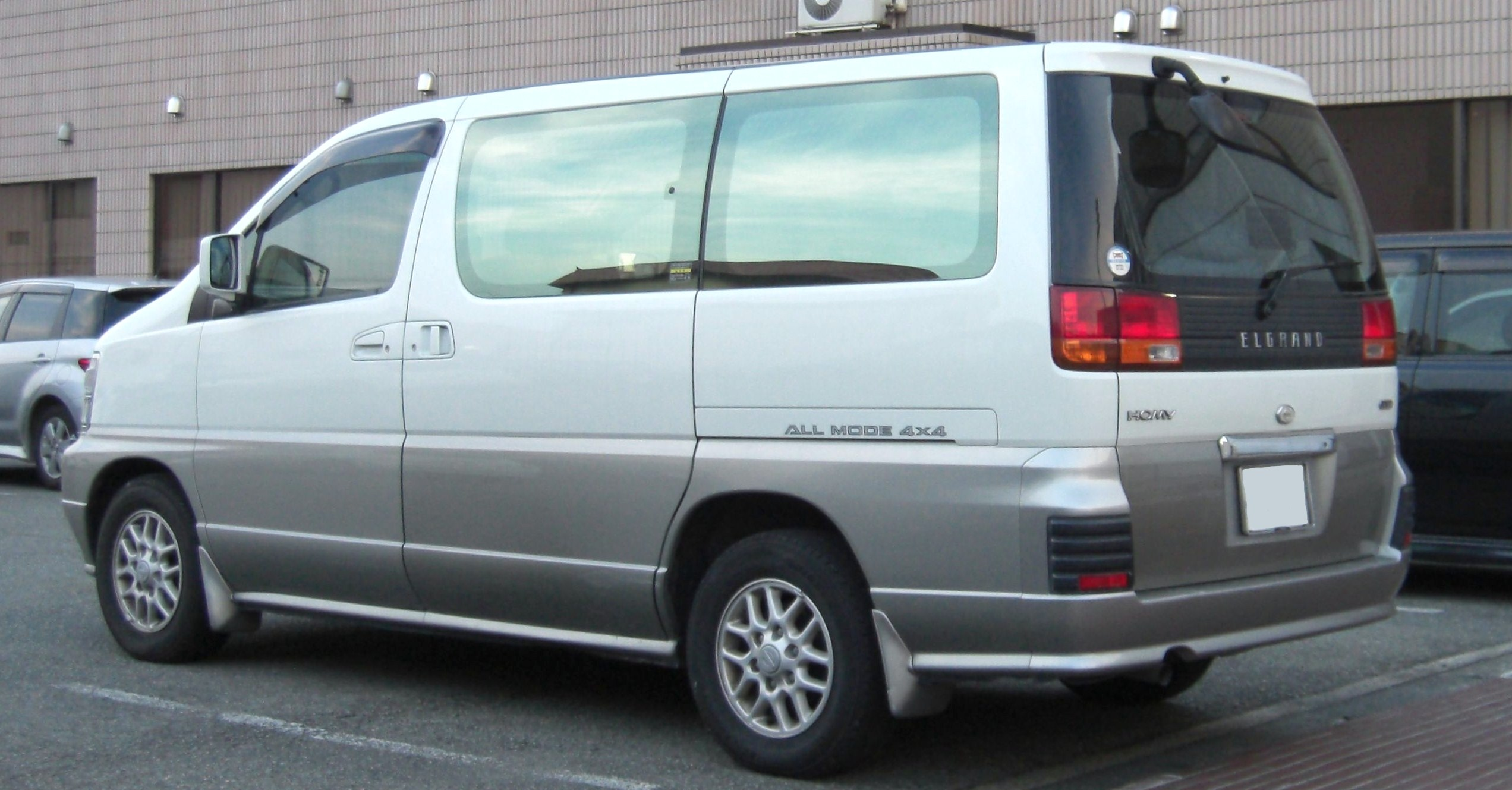 File Nissan Homy Elgrand Rear Jpg Wikimedia Commons