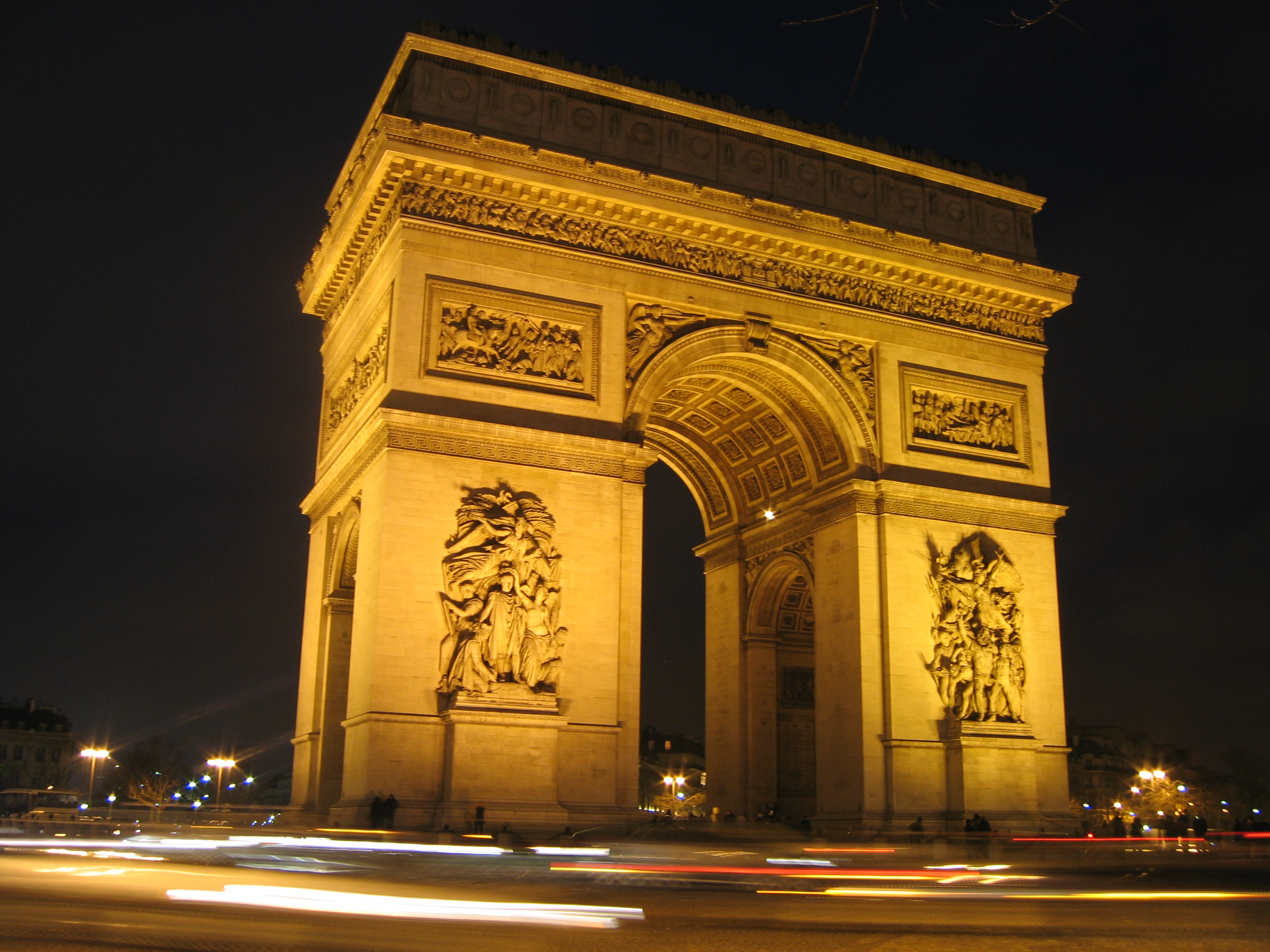 file paris arc de triomphe place de l 39 etoile la nuit jpg. Black Bedroom Furniture Sets. Home Design Ideas