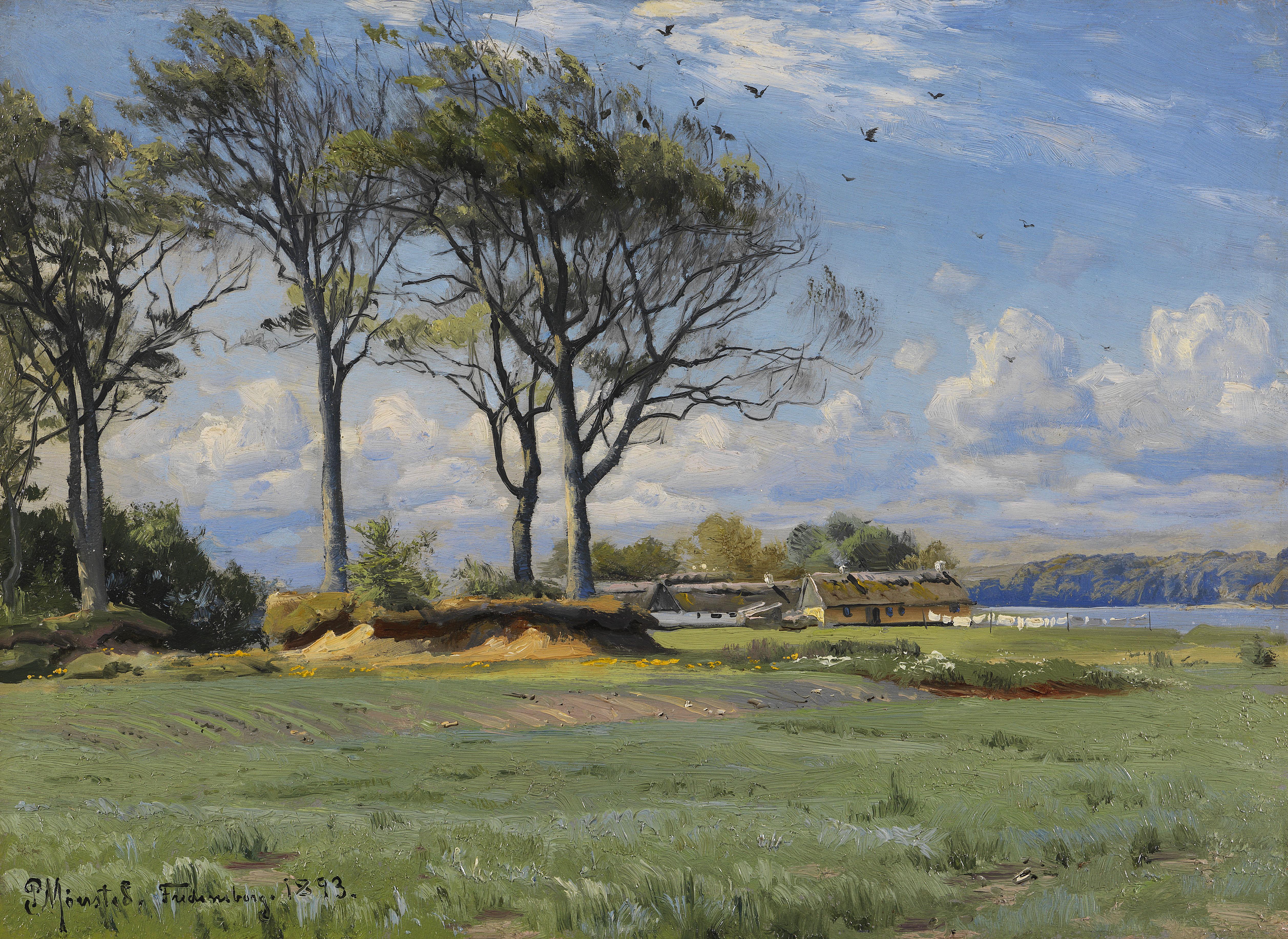 Peder Mørk Mønsted, Spring Landscape