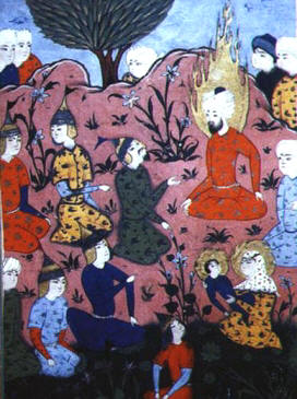 Persian Miniature Of Sermon On The Mount