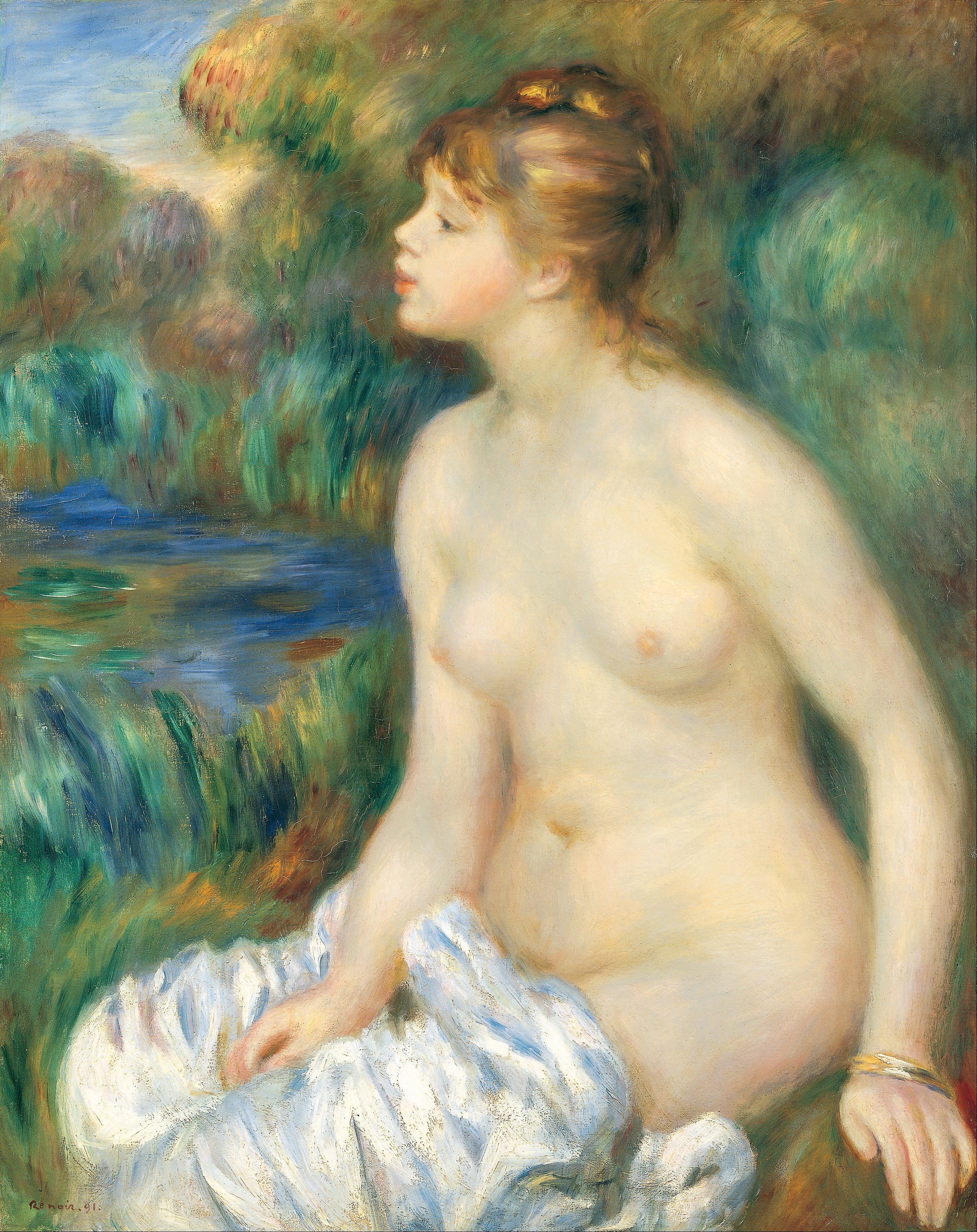 Pierre Auguste Renoir - Bather - Google Art Project.jpg