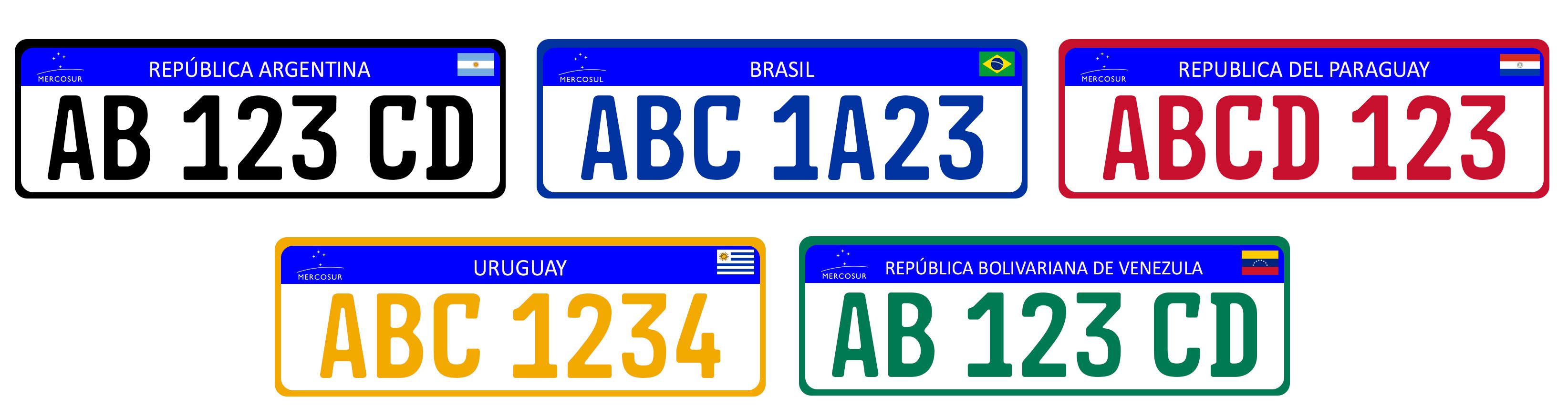 Placas de identificação de veículos no Mercosul – Wikipédia 7e1b986a09b90