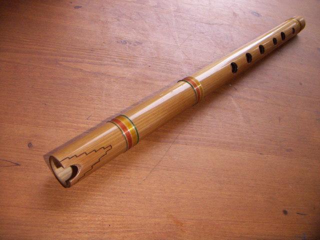 Una quena, un instrumento tradicional andino.