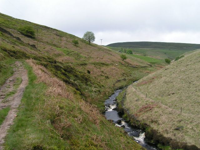 River Dane above Three Shire Heads - geograph.org.uk - 175799