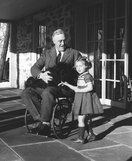 File:Roosevelt in a wheelchair.jpg