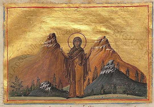 https://upload.wikimedia.org/wikipedia/commons/b/be/Saint_Thecla_%28Menologion_of_Basil_II%29.jpg
