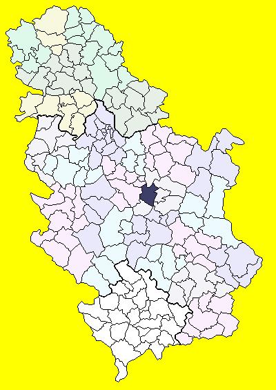 jagodina karta srbije Jagodina (općina) – Wikipedija jagodina karta srbije