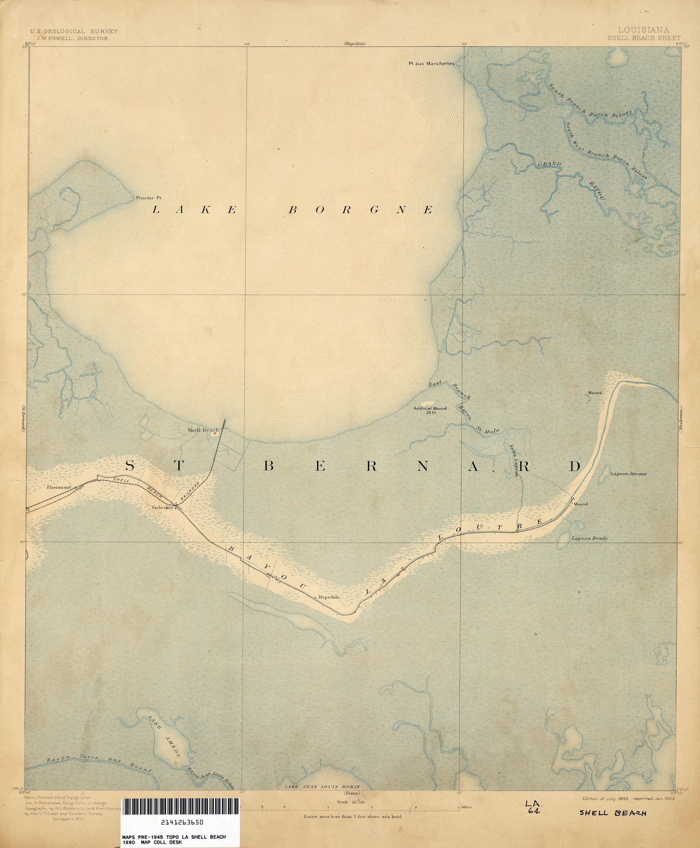 Filest Bernard Shell Beach Map Lake Borgne 1890jpg Wikimedia Commons - Map-of-the-us-in-1890