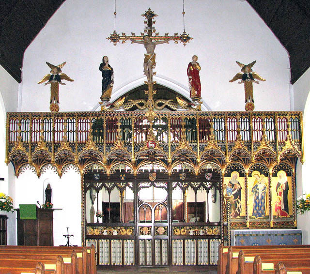 File:St John the Baptist's church - the rood screen - geograph.org.uk - 1507429.jpg