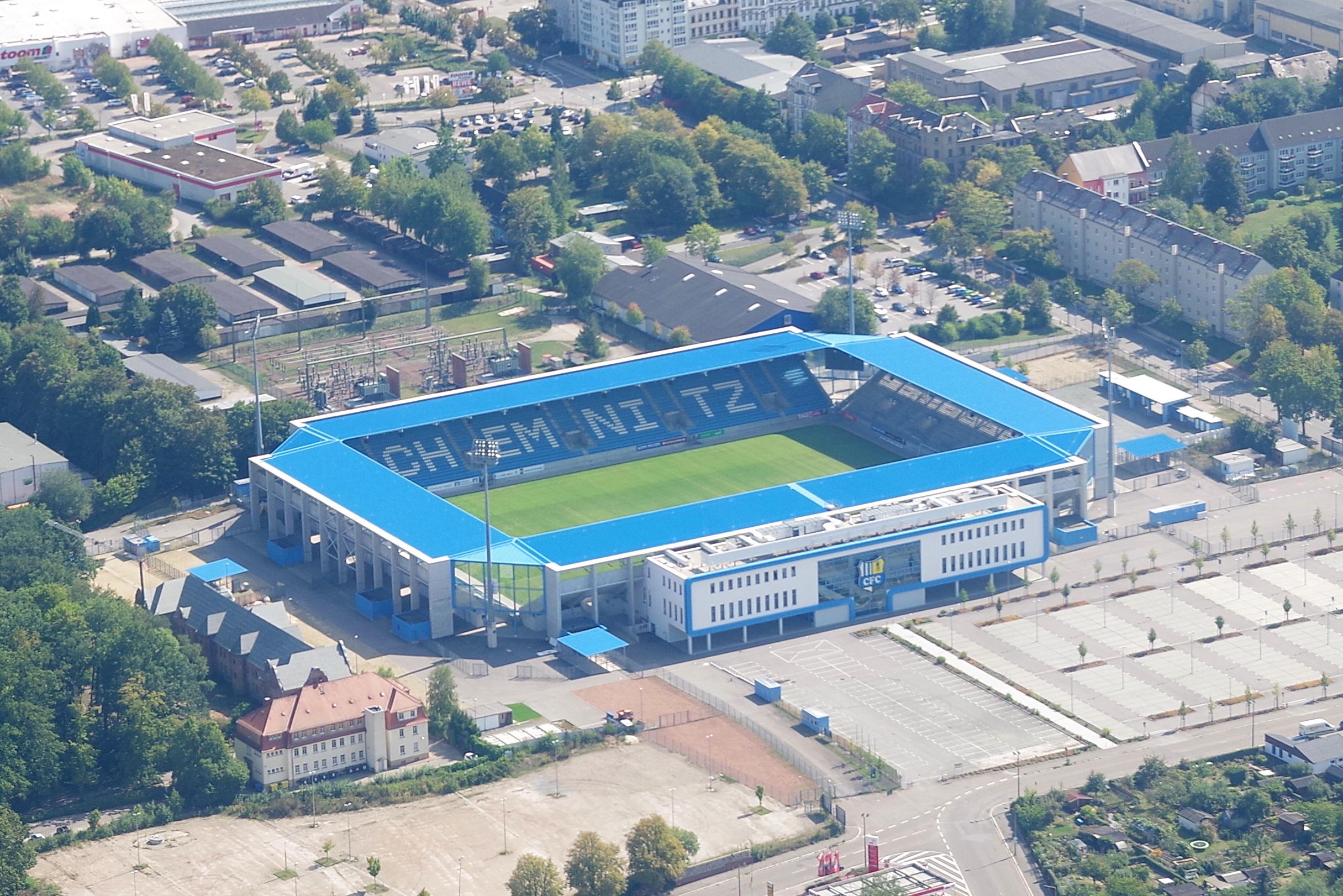 Luftbild des Stadions 2018
