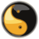 Taijitu yellow and black on white.PNG