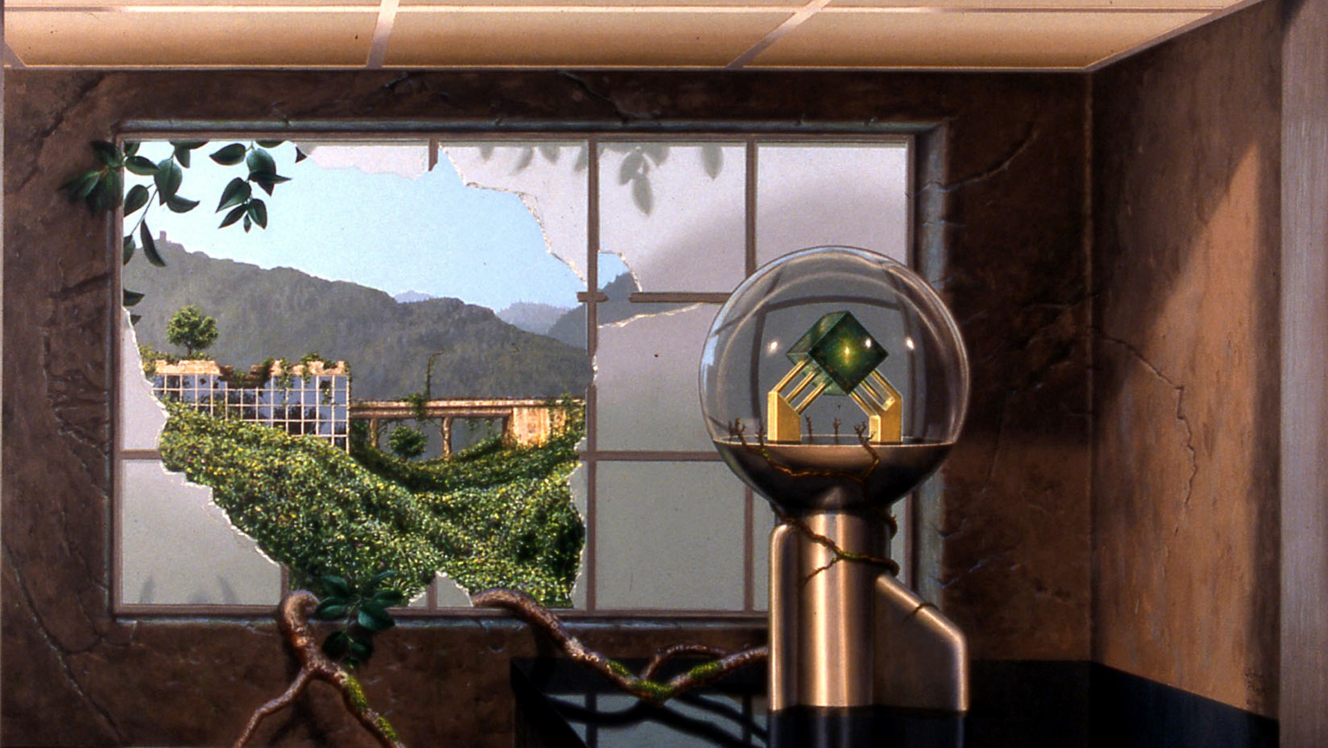 File:Technology of the Future Past, Trompe l\'oeil mural by John Pugh ...
