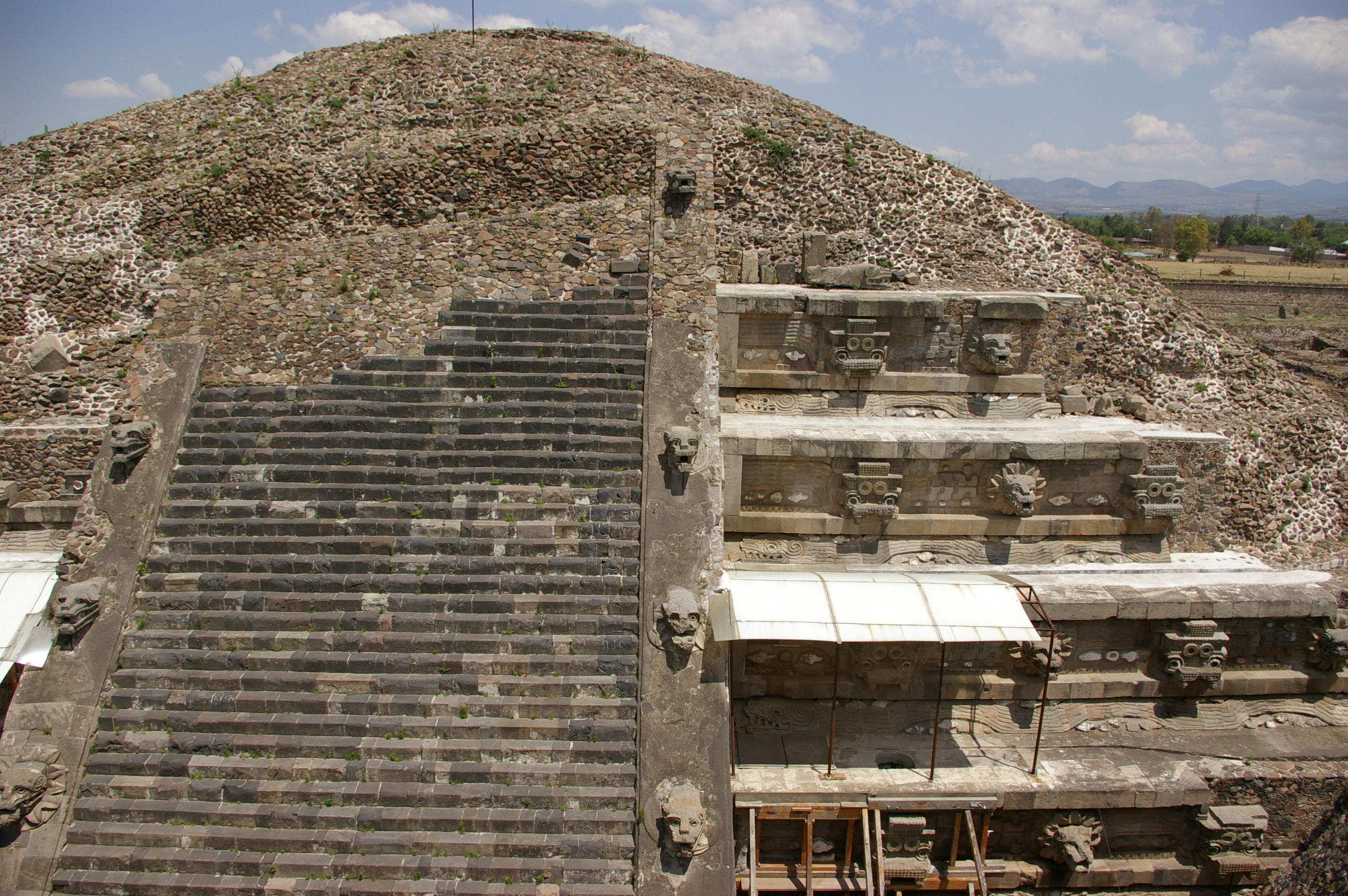 Image result for Temple of the Feathered Serpent in Teotihuacan