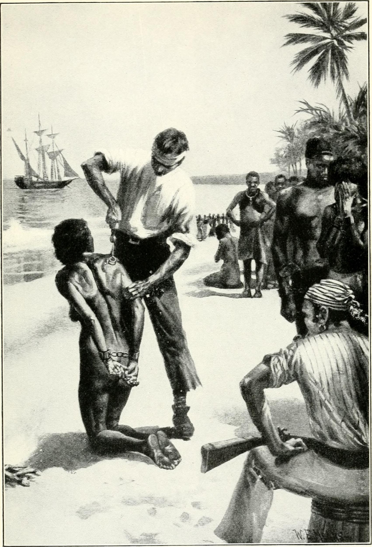 Chủ Nô Dùng Thanh Sắt Nung Đỏ Để Đóng Dấu Vào Nô Lệ Ở Bến Cảng