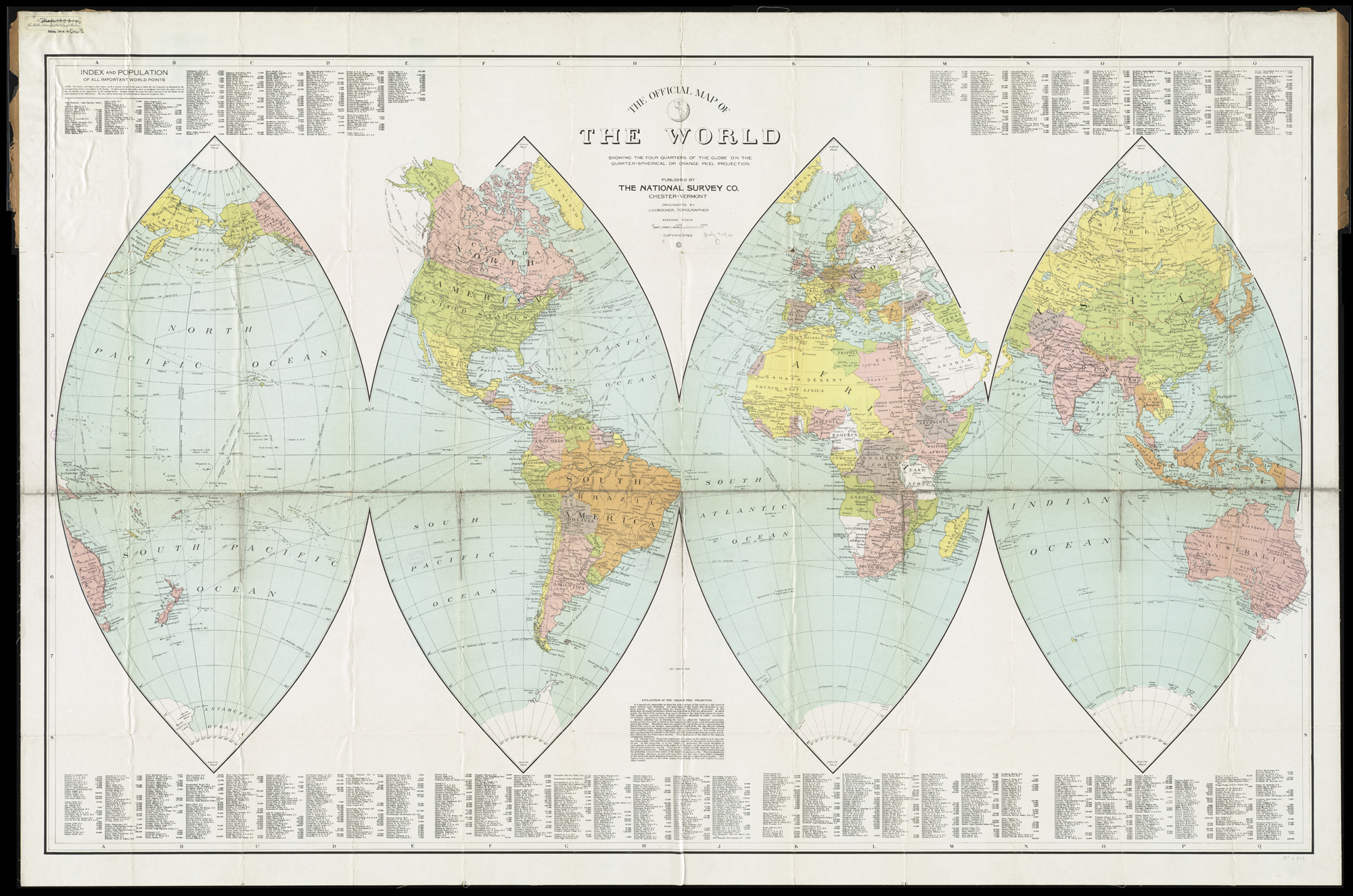 Spherical World Map.File The Official Map Of The World Showing The Four Quarters Of