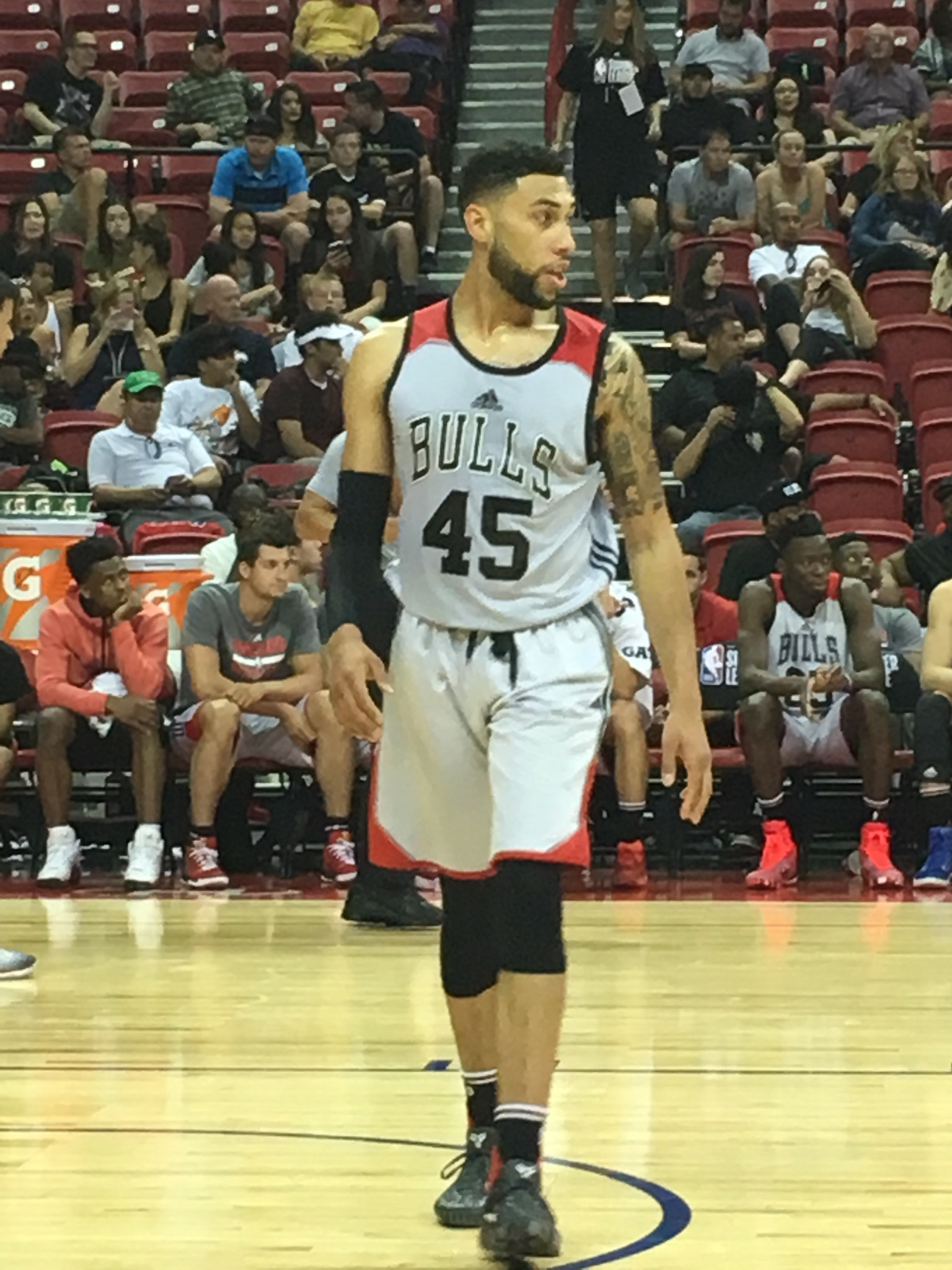 Valentine During The 2017 NBA Summer League.