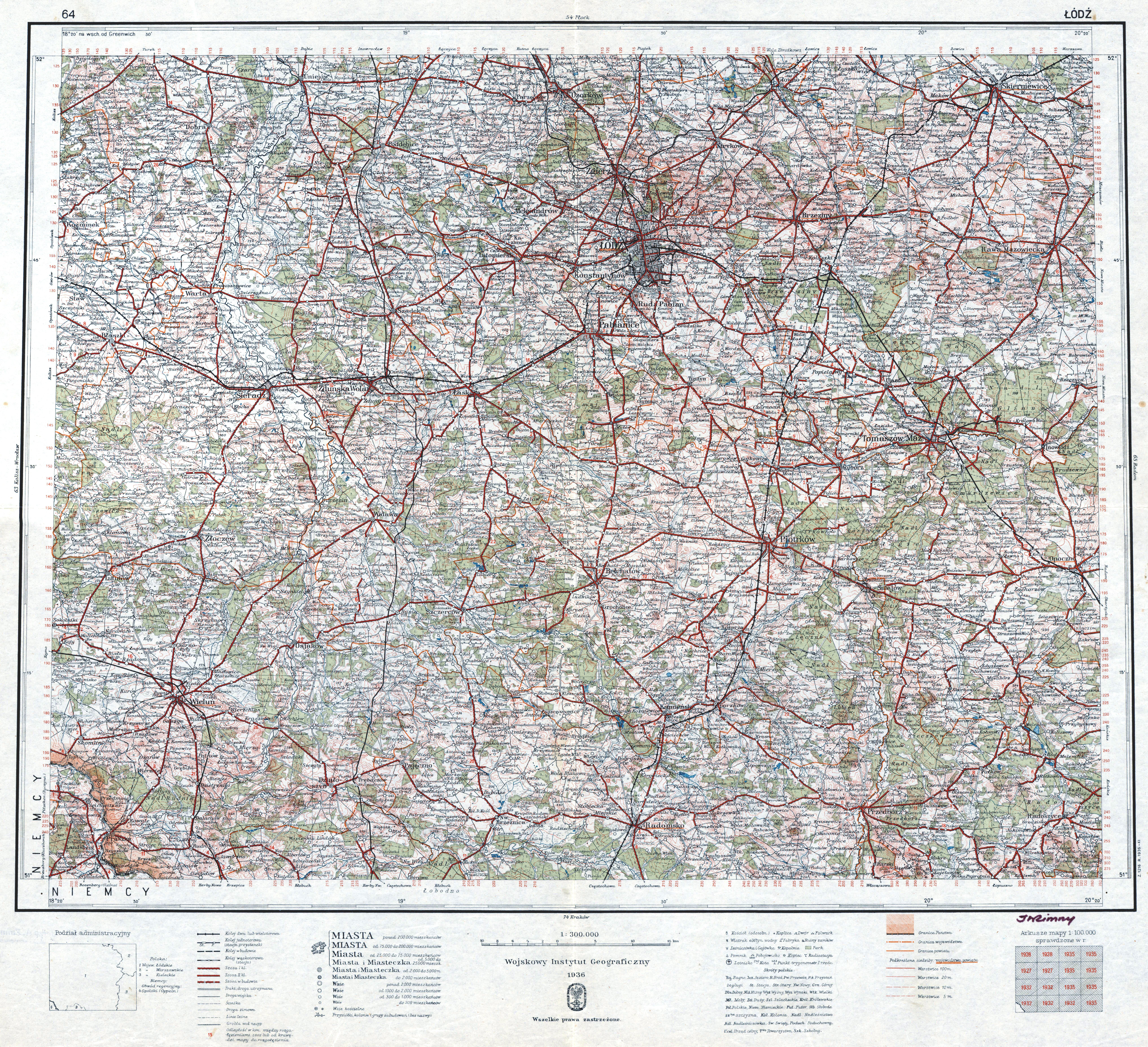File Wig Mapa Operacyjna Polski 64 Lodz 1936 Jpg Wikimedia Commons