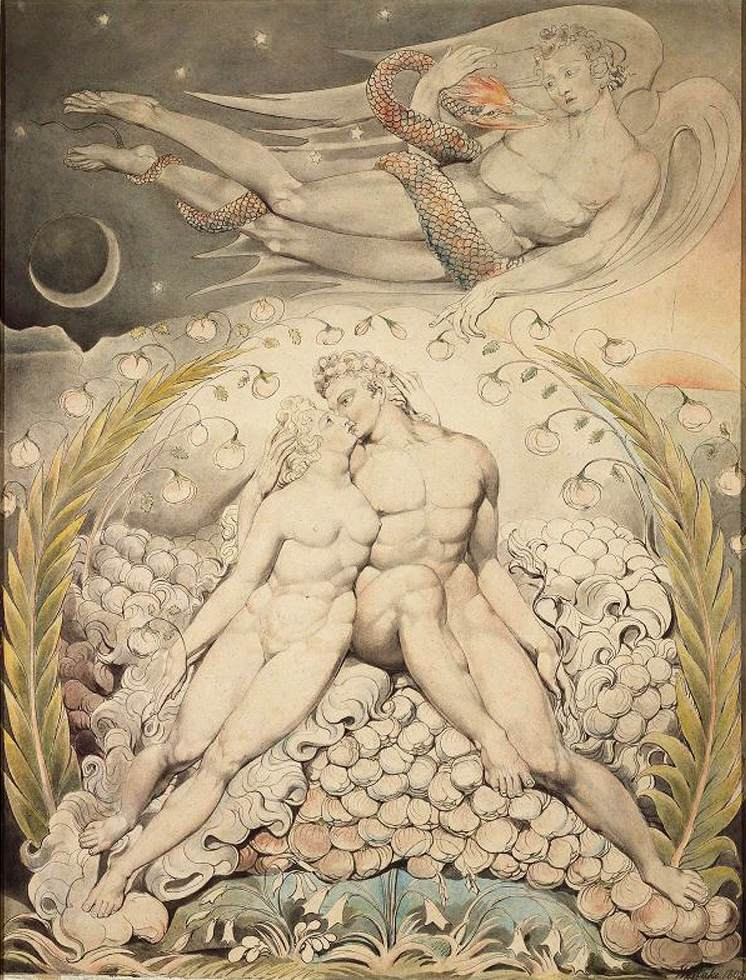 File:William Blake - Satan Watching the Caresses of Adam and Eve ...
