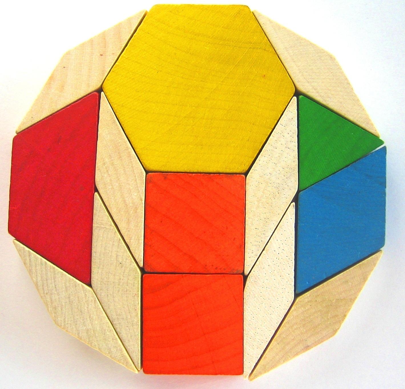 Wooden pattern blocks dodecagon