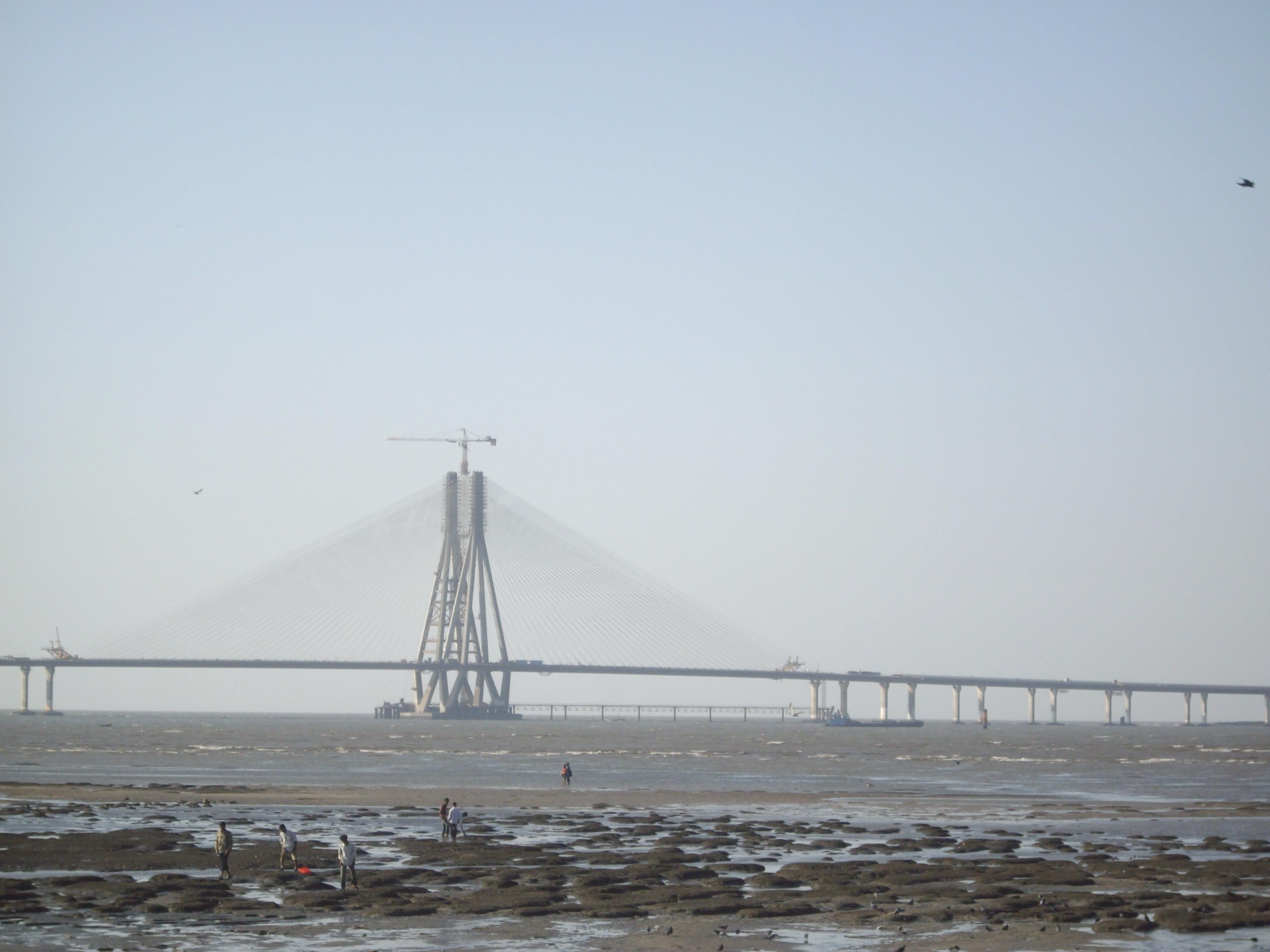 File Bandra Worli Link Bridge As Seen From Dadar Chowpatty Beach