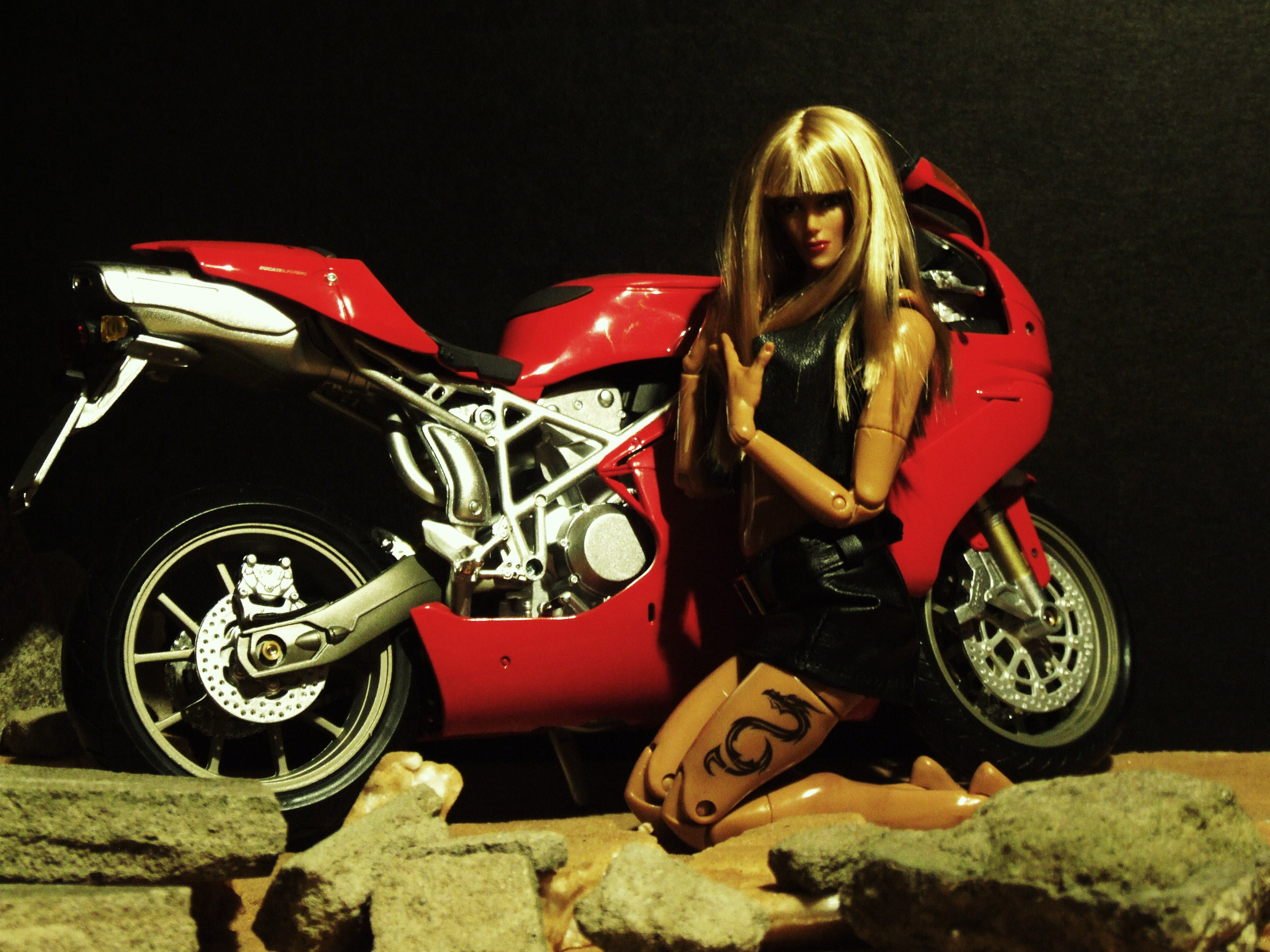1//6 Scale Collectible Motorcycle Replica Model for 12/'/' Hot Toys Sideshow Figure