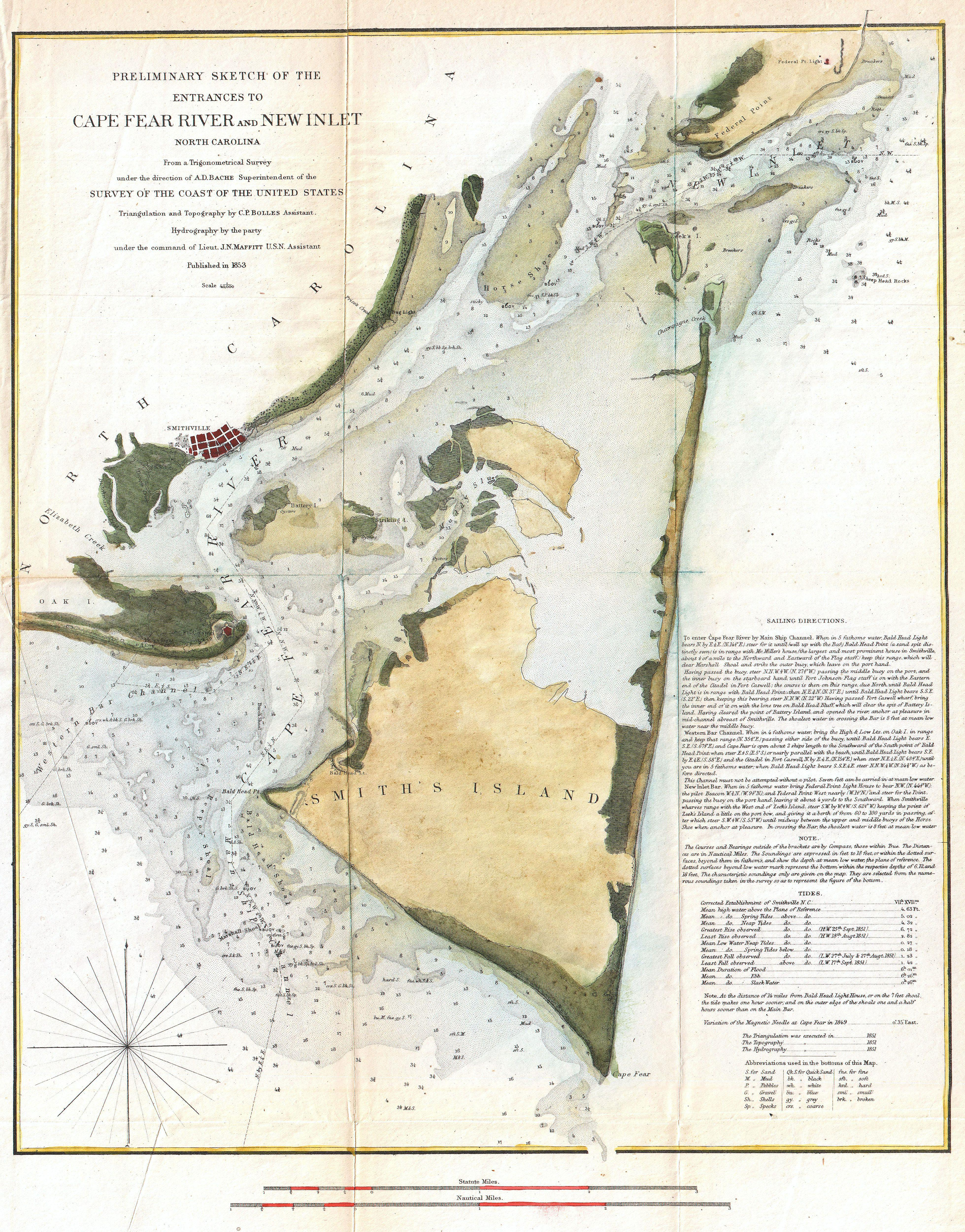 Antique Maps And More Bald Head Island