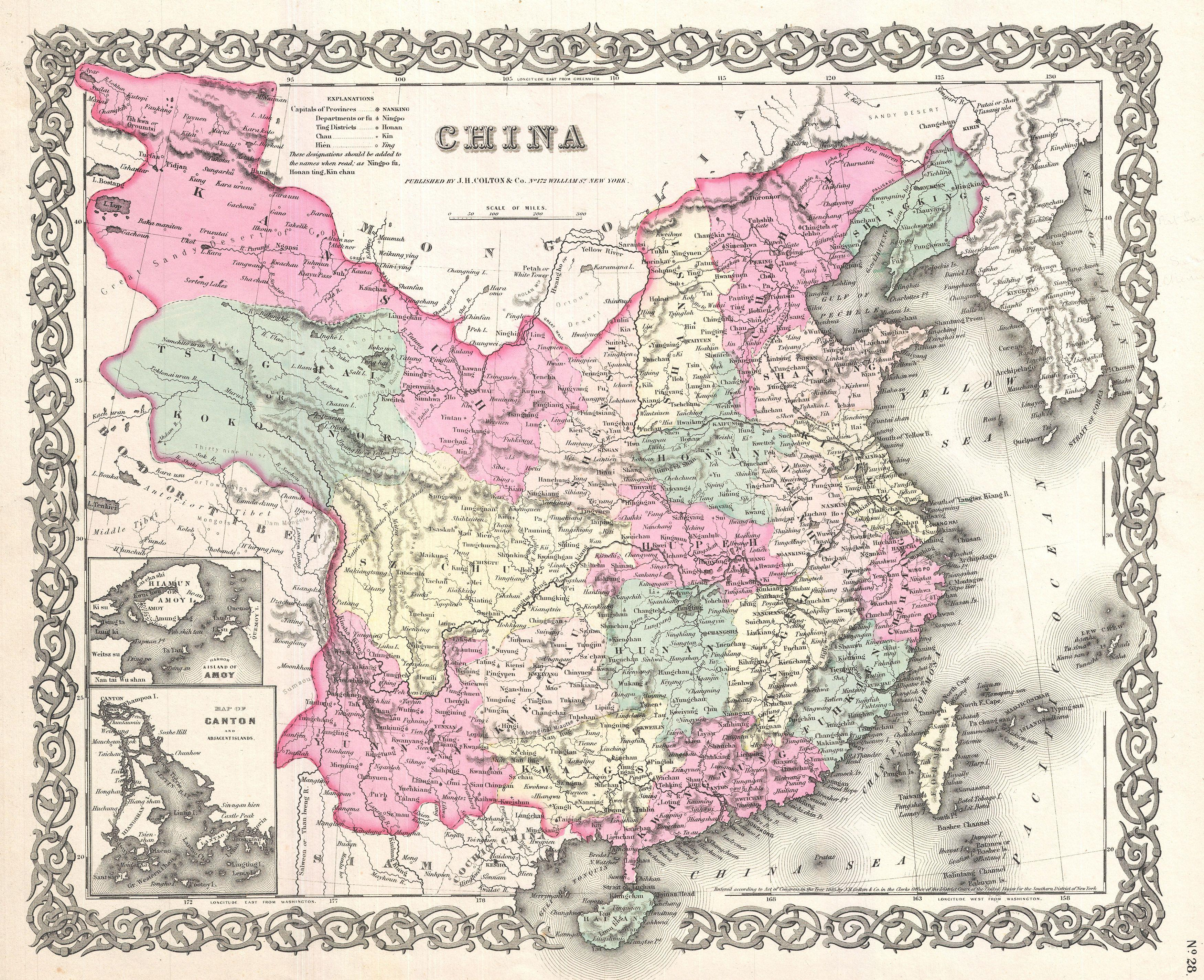 File:1855 Colton Map of China, Taiwan, and Korea   Geographicus