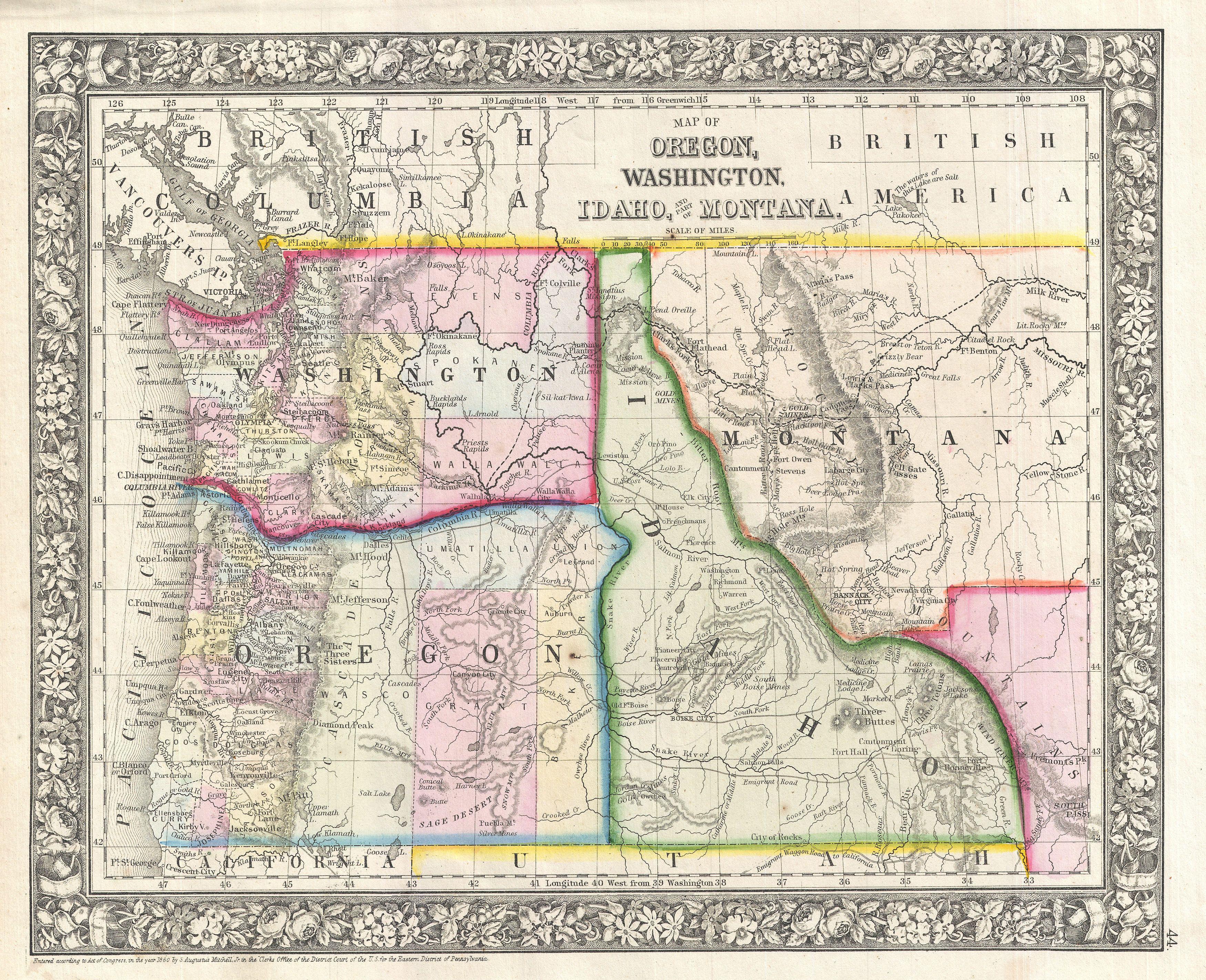 Road Map Of Oregon And Idaho