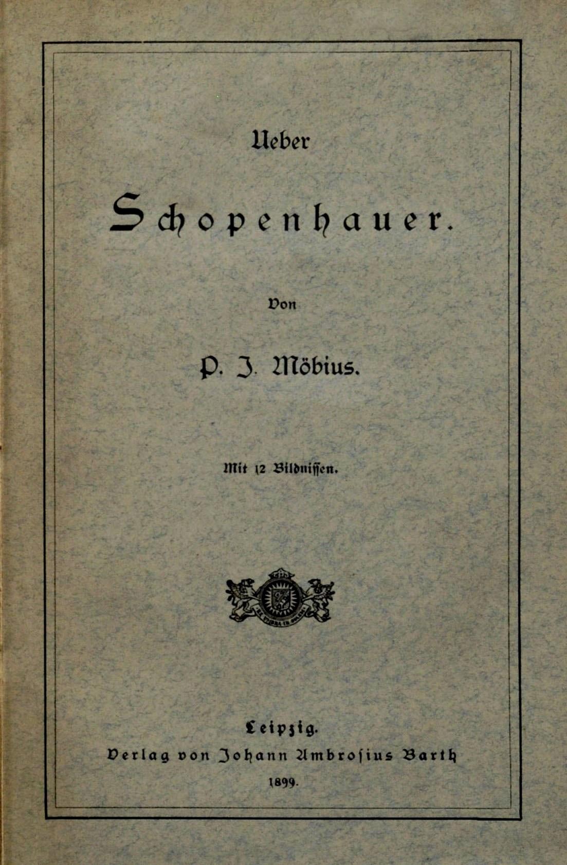 File:1899 Möbius Ueber Schopenhauer jpg - Wikimedia Commons