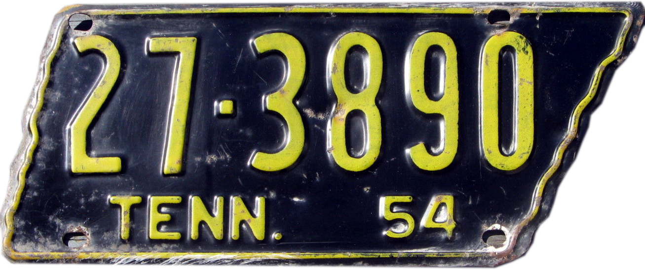 File:1954 Tennessee license plate.jpg - Wikimedia Commons