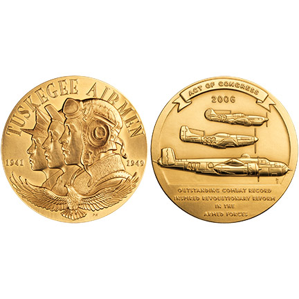 File 2006 Tuskegee Airmen Congressional Gold Medal Front