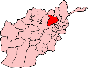 Map showing Baghlan province in Afghanistan
