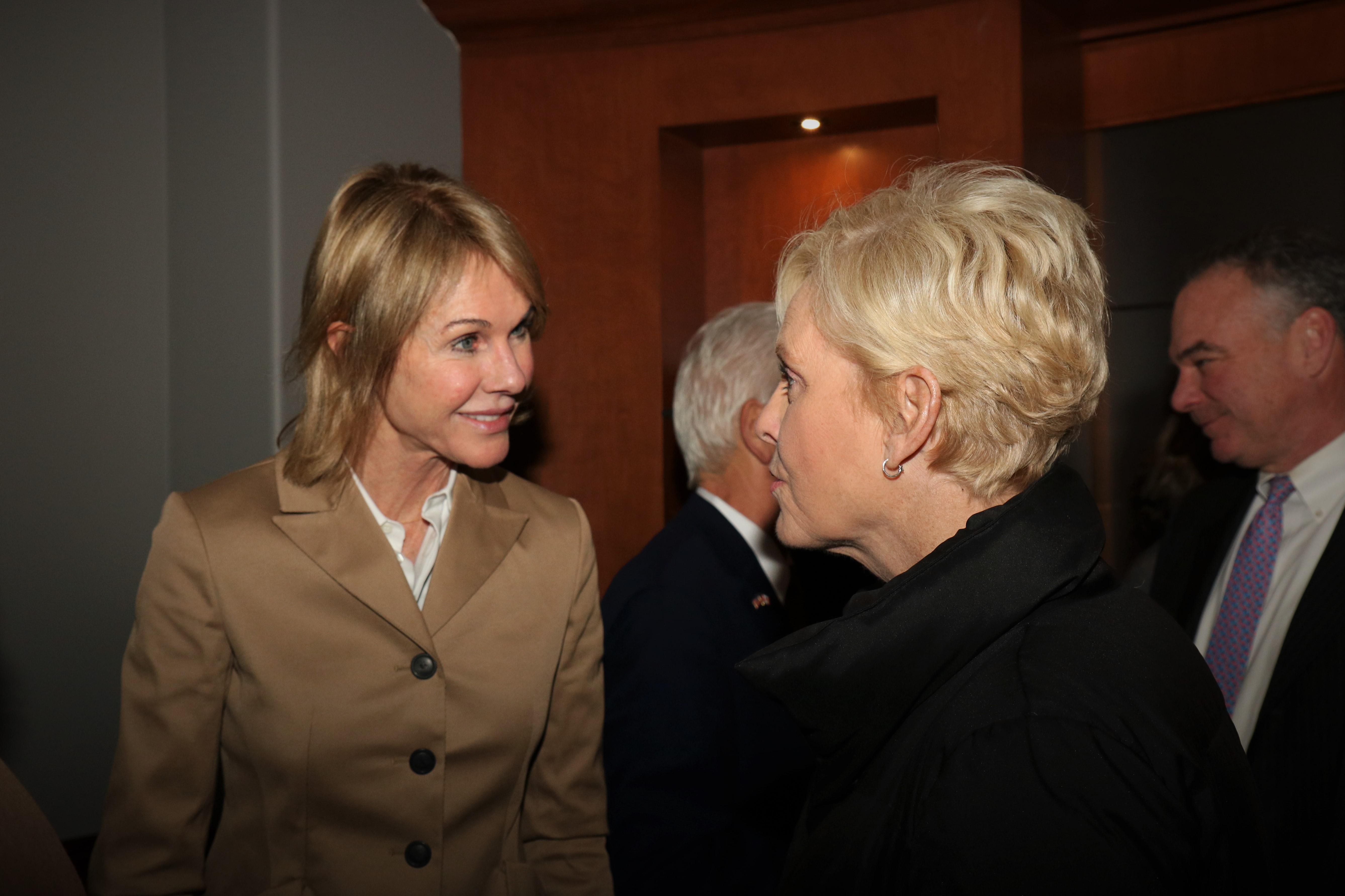 File:Ambassador Kelly Craft greets Mrs  Cindy McCain