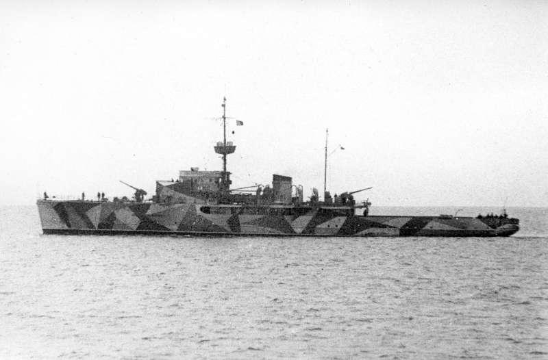 militärschiff zur sicherung