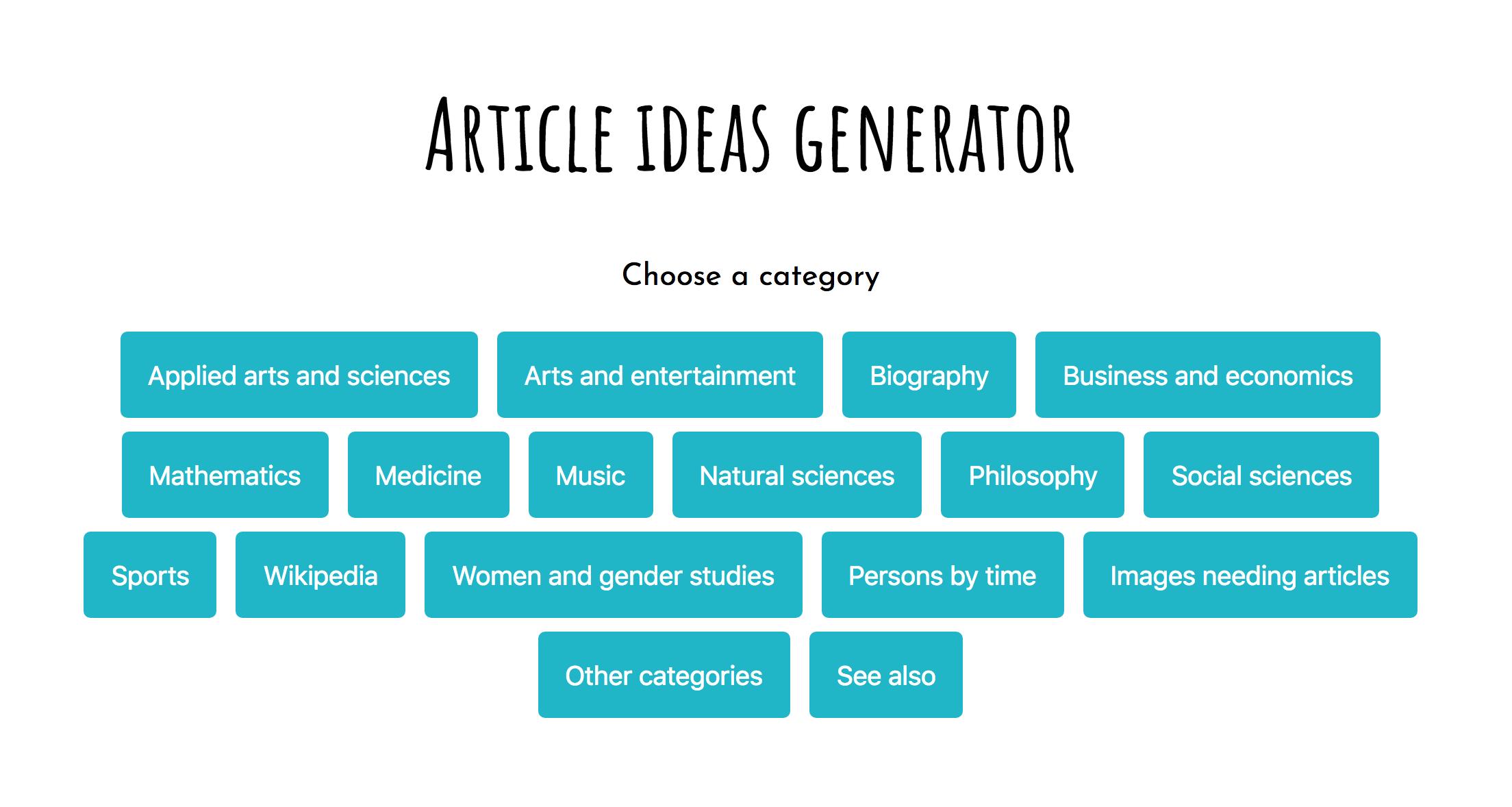 File Article Ideas Generator Demo App Screenshot 2 Png Wikimedia Commons