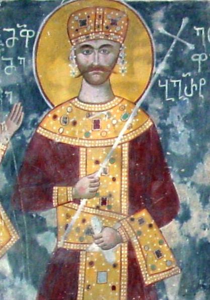 Сцена венчания и коронования императора михаила vii дуки с марией, дочерью абхазского царя баграта iii
