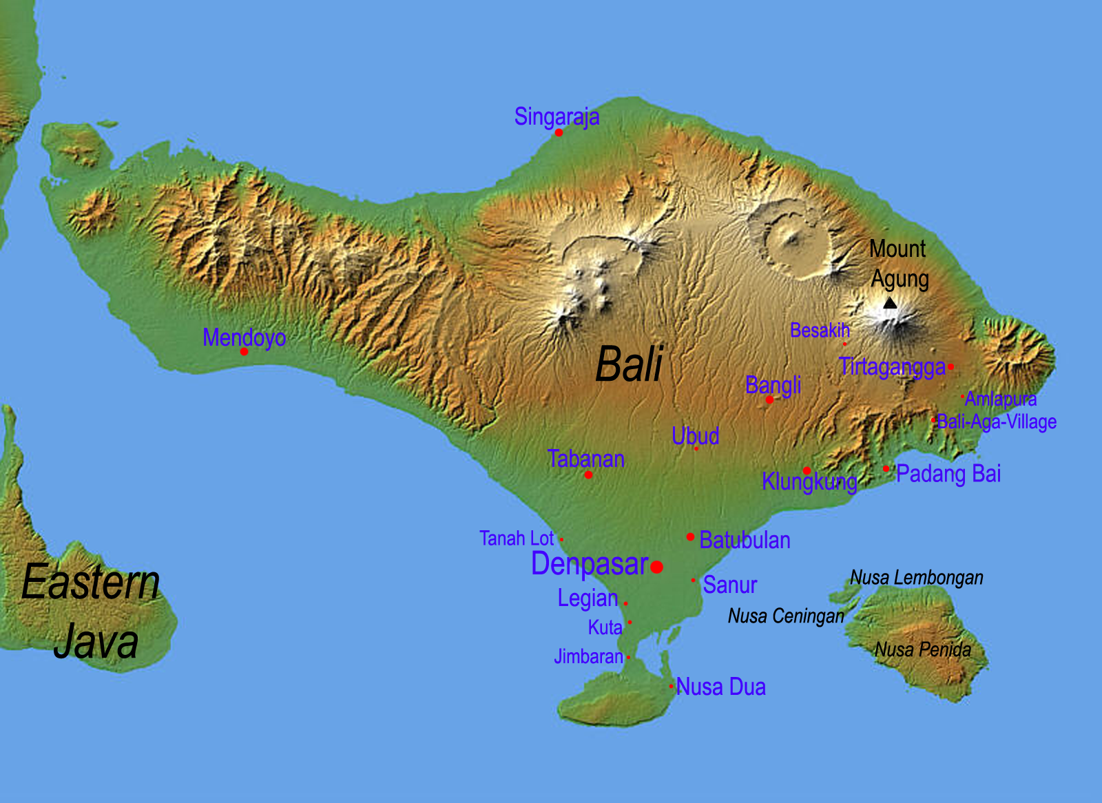 The Map of Bali