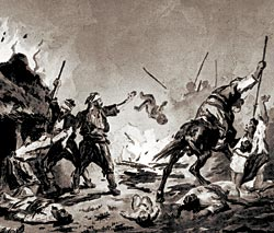 Bashi-bazouks' atrocities in Bulgaria.