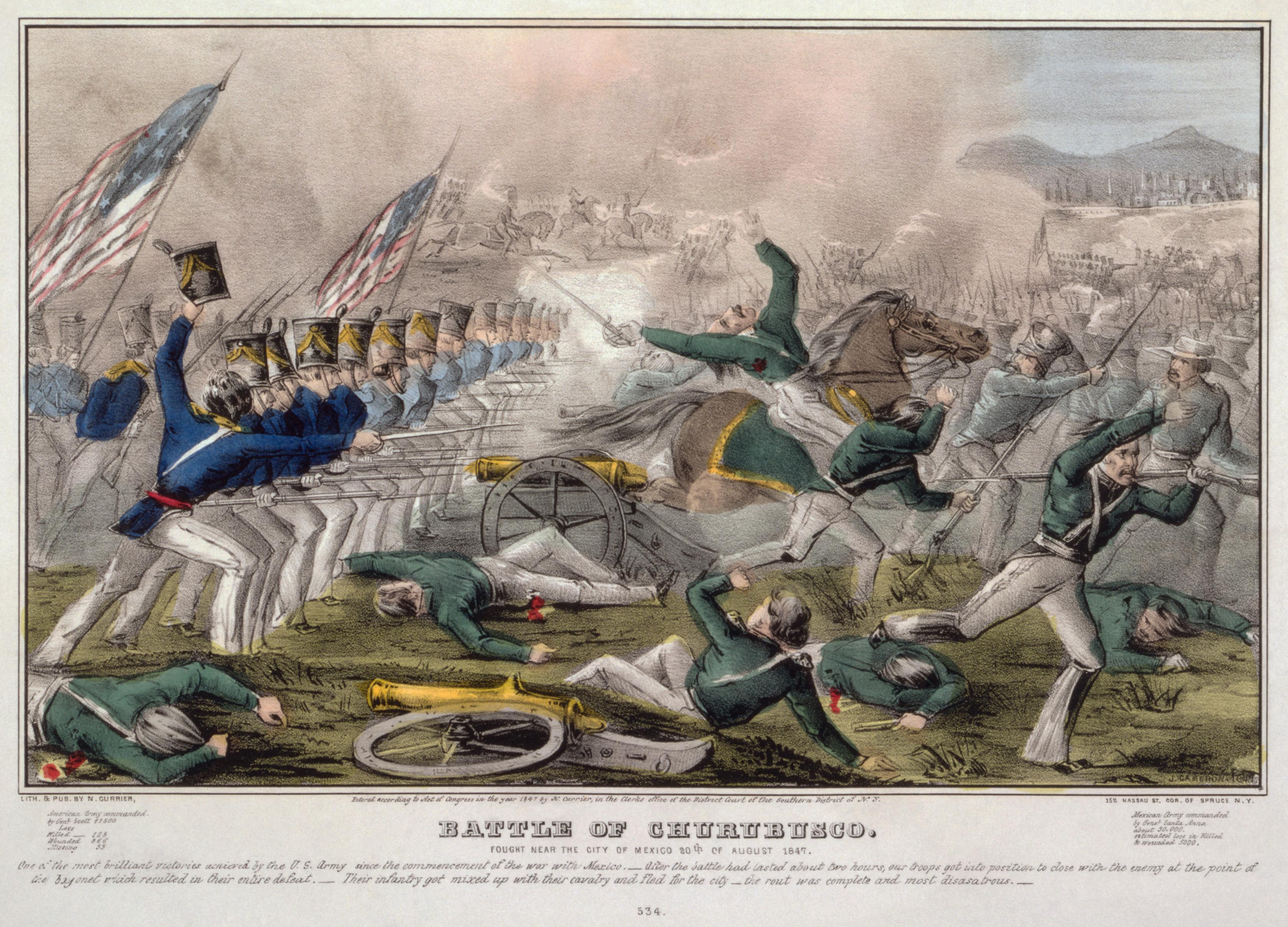 Battle of Churubusco by J Cameron published