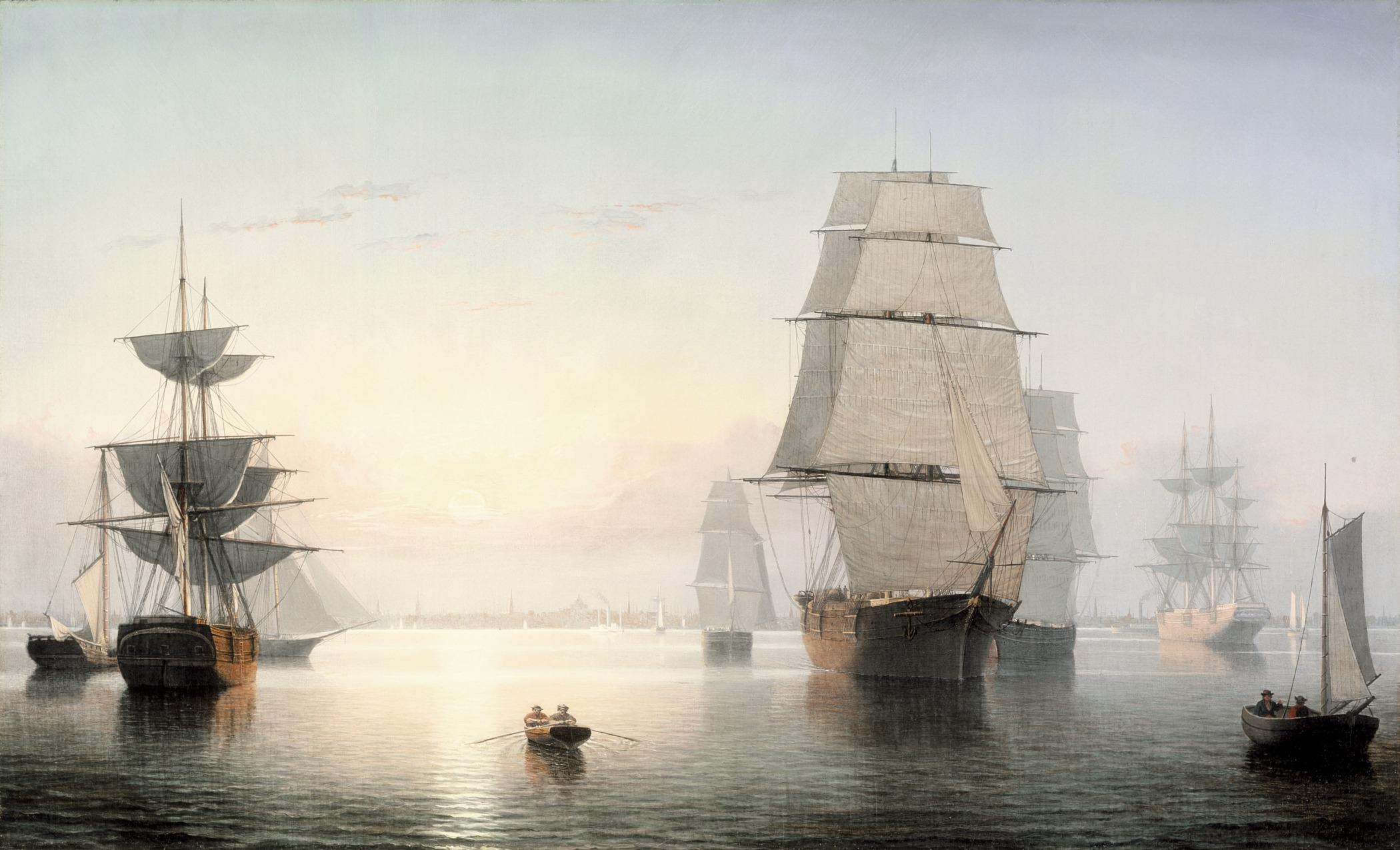 White Canvas Sailing Shoes