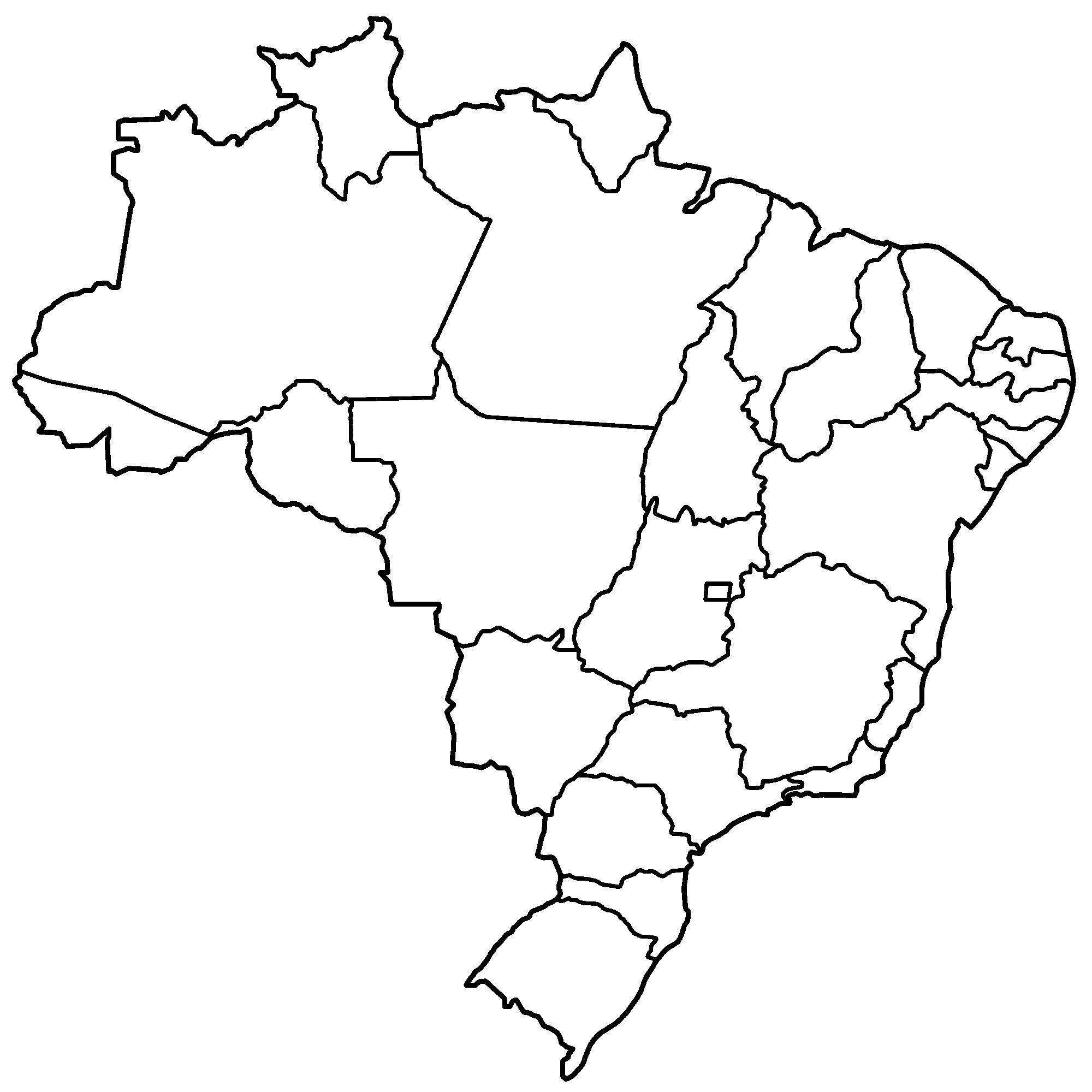 Printable Map Of Brazil - Brazil map