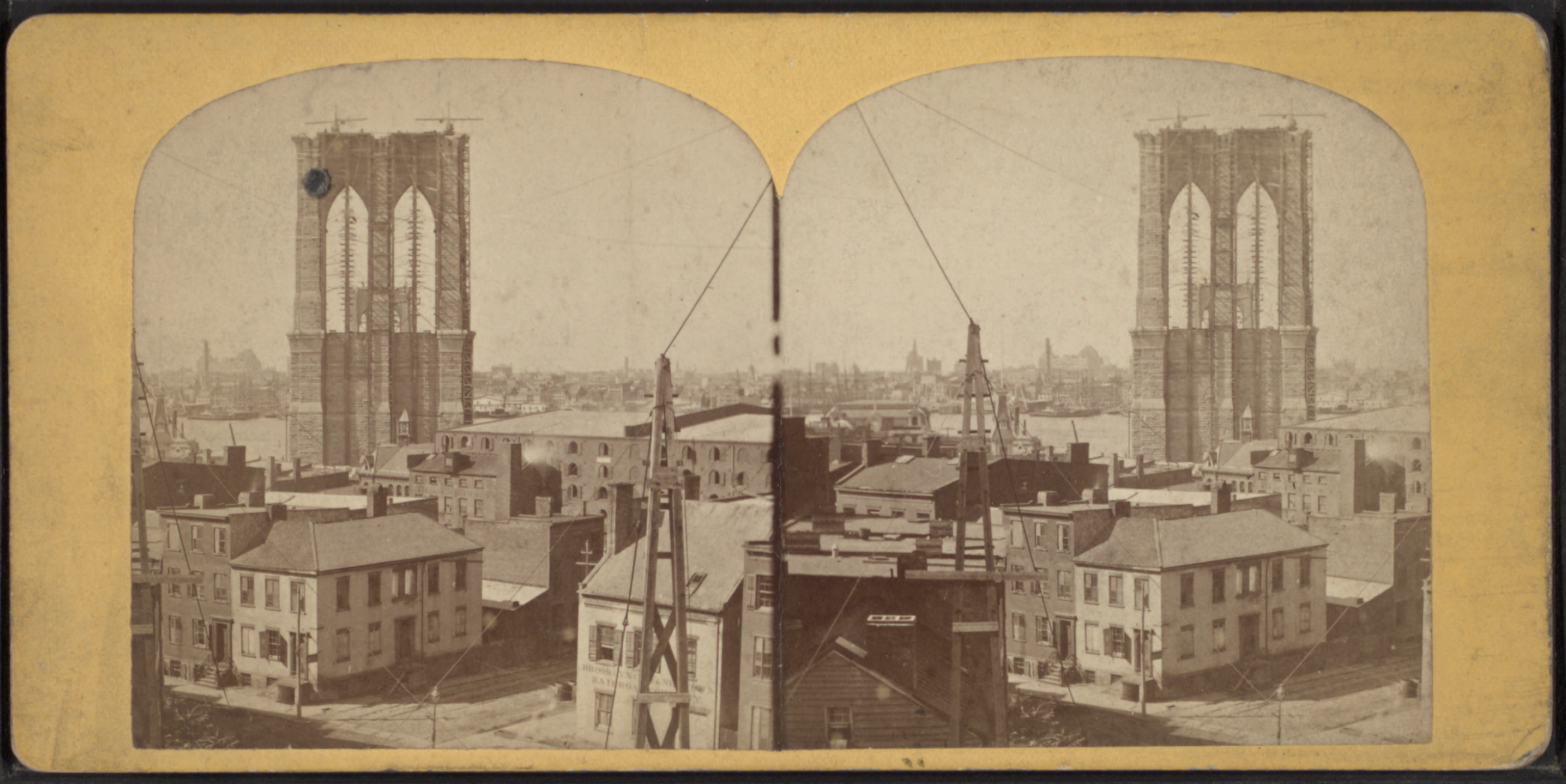 Filebrooklyn bridge tower in construction from robert n dennis filebrooklyn bridge tower in construction from robert n dennis collection of stereoscopic malvernweather Choice Image