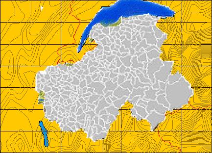 Carte Des Communes De La Haute Savoie Vues Dun Oeil