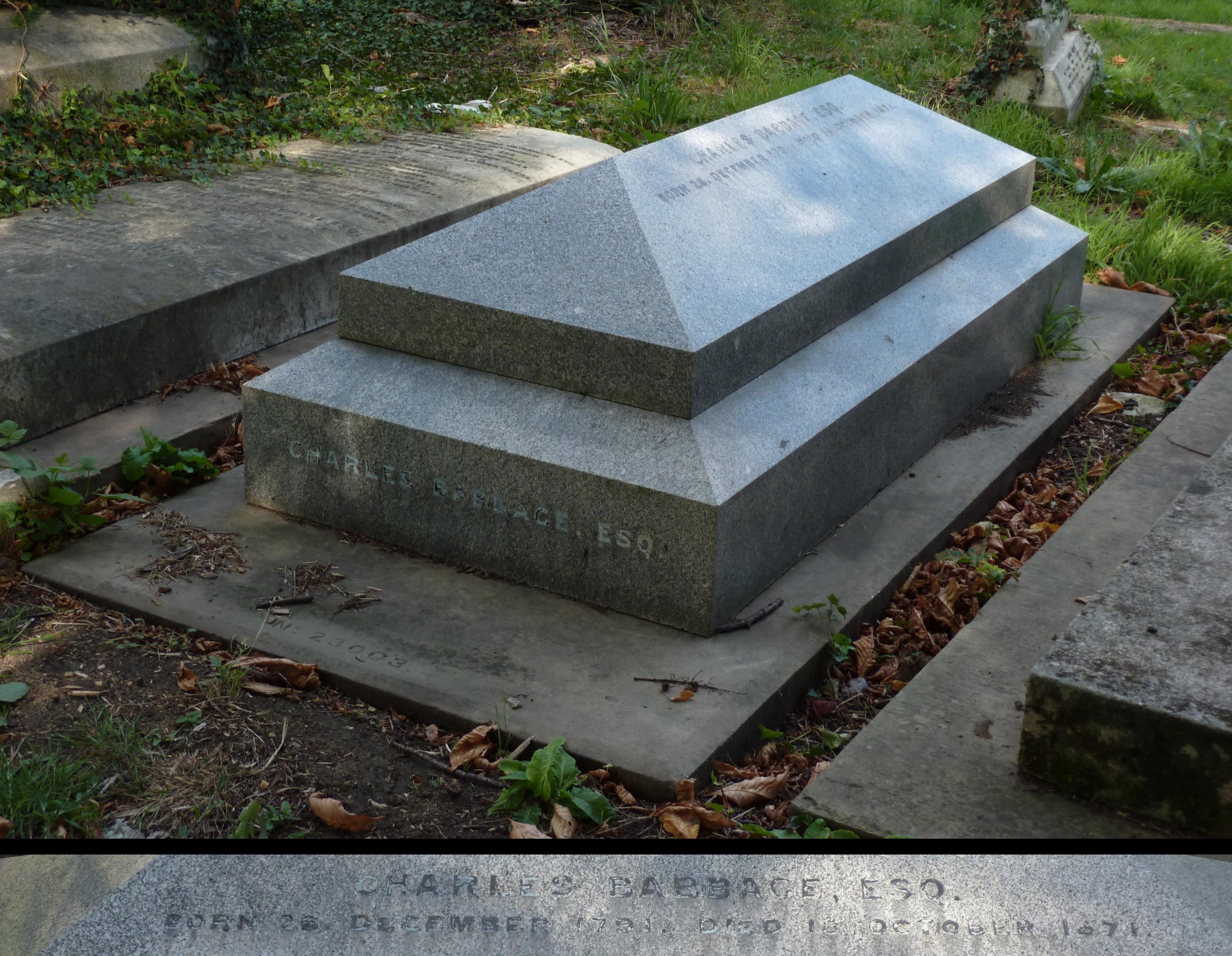 File:Charles Babbage grave Kensal Green 2014.jpg - Wikimedia Commons