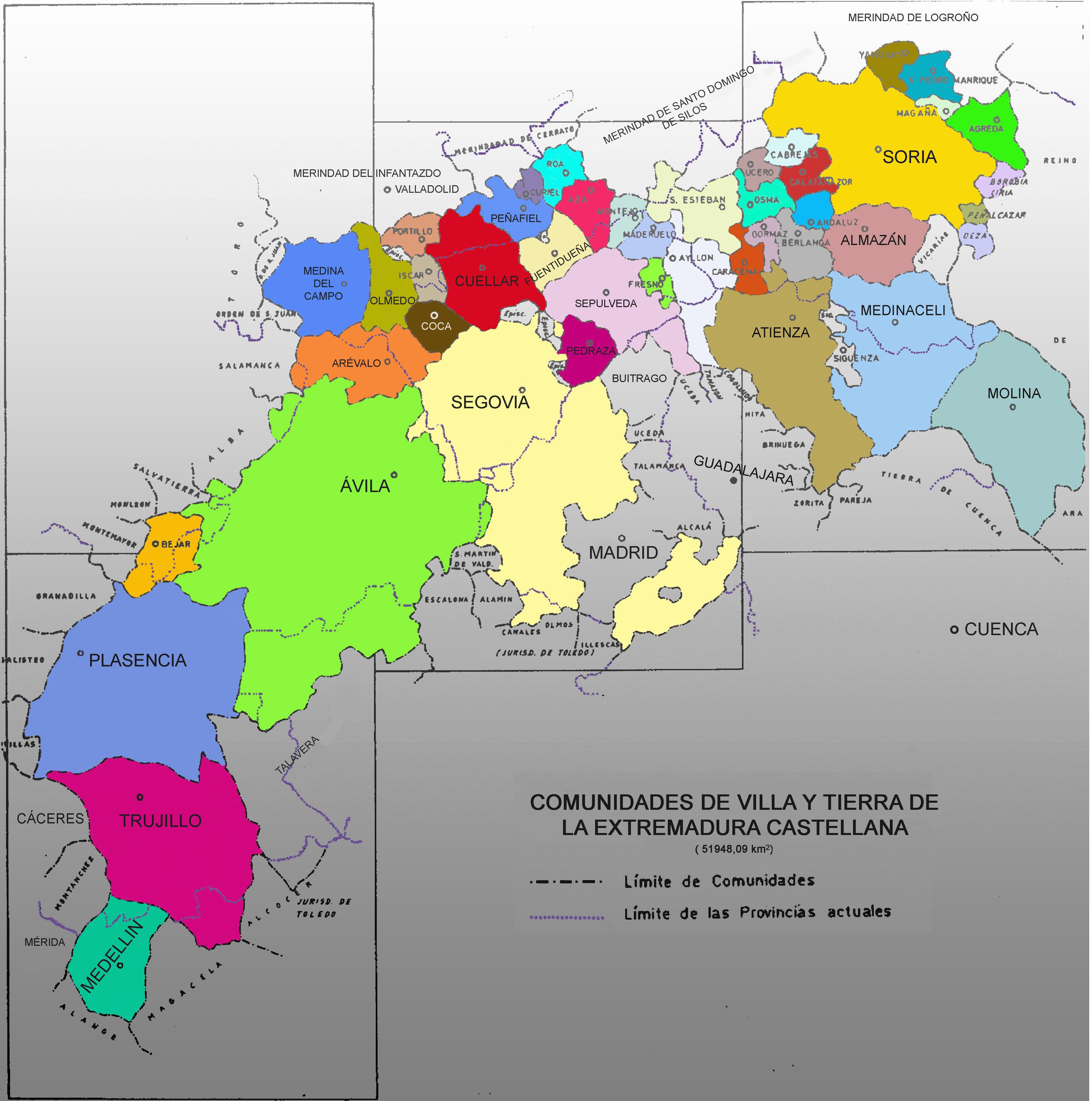 Comunidades de villa y tierra de la Extremadura castellana