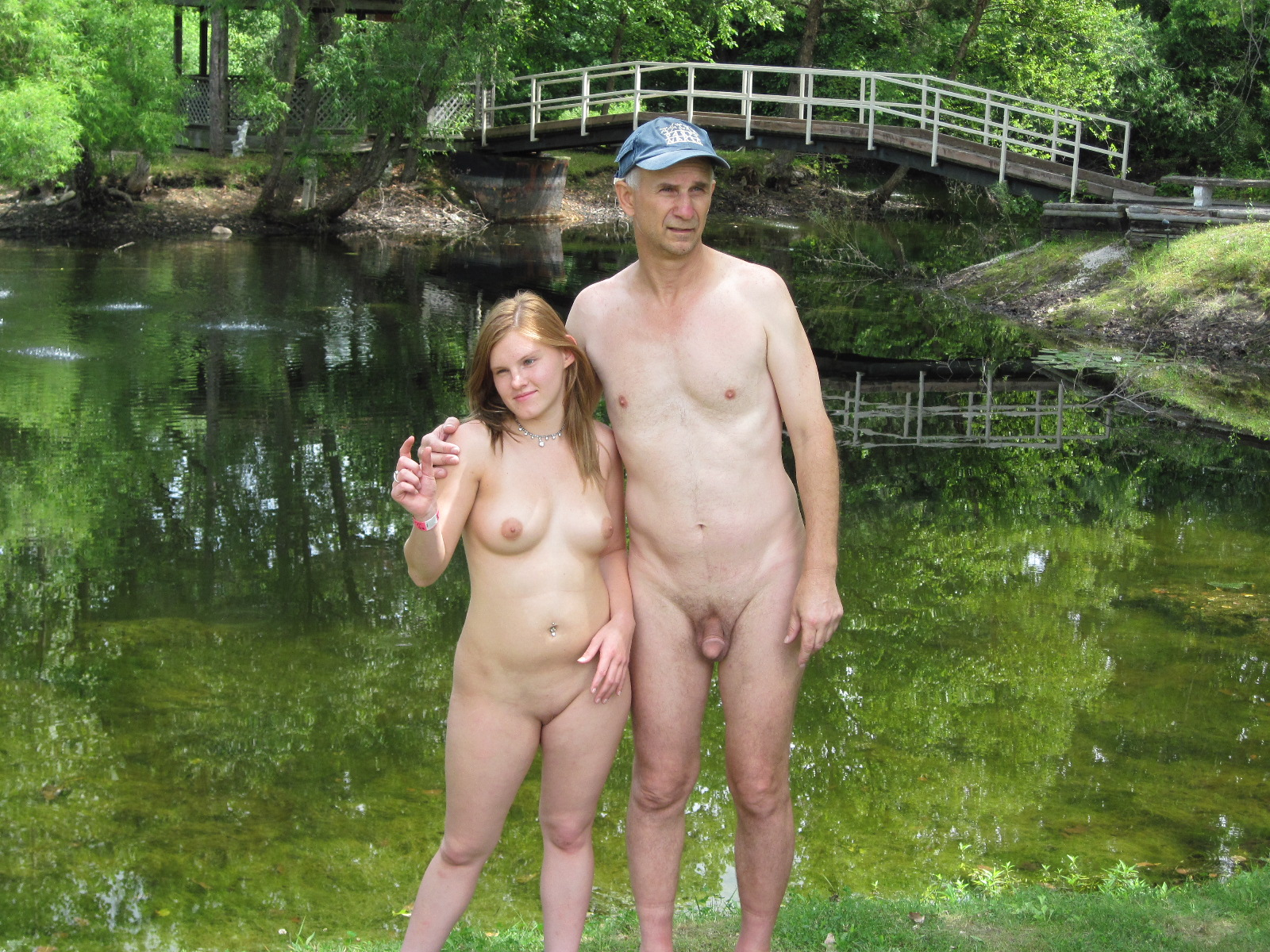 nudist families dad and daughter
