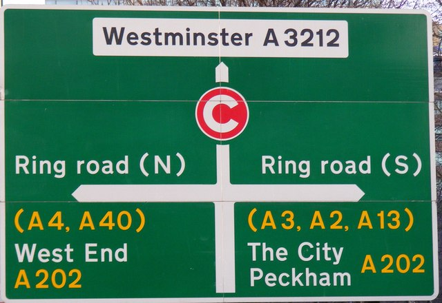... :Direction Sign A3212 Grosvenor Road - geograph.org.uk - 1115266.jpg