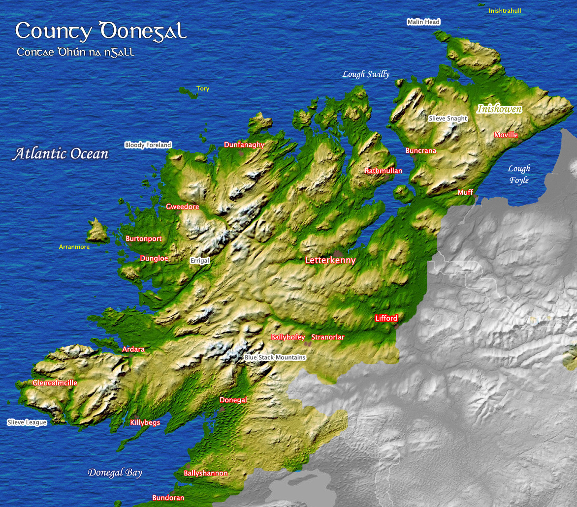 an overview of the translations in county donegal Our irish roots the short version of this portion of the family history is that both our great-grandfathers, thomas frain and james j haggerty, were born in ireland and may have spent a good part of their youth there, as both are said (in the 1920 us census) to have spoken irish, their native language,.