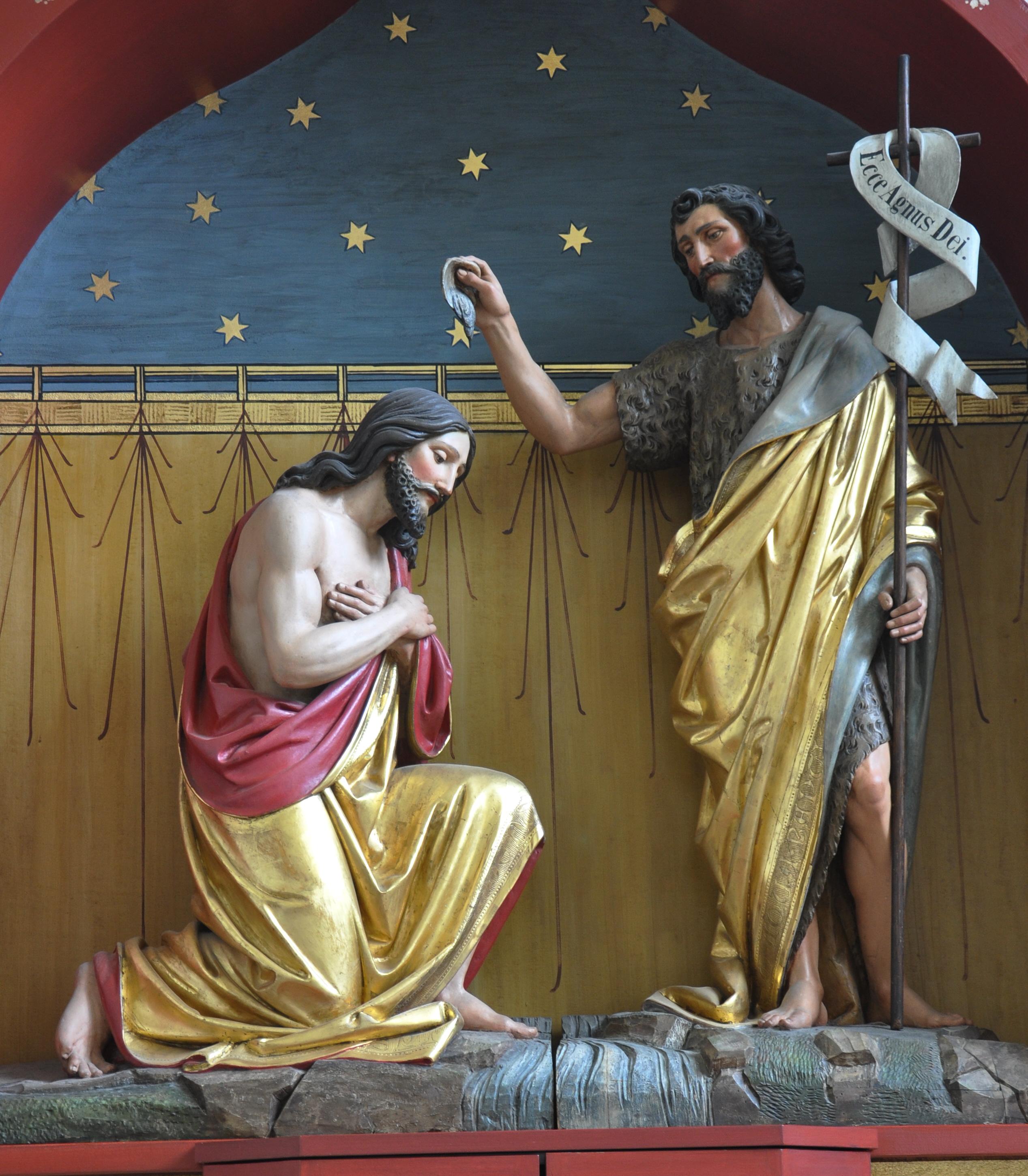 Filefn Ailingen Pfarrkirche Choraltar Taufe Jesujpg