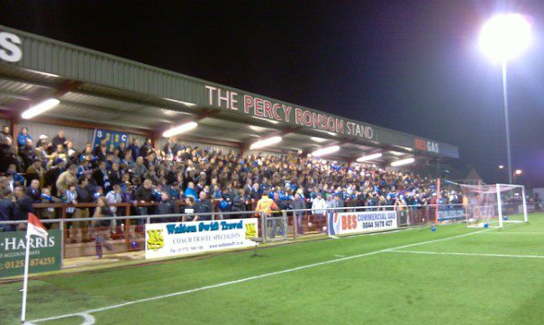 Percy Ronson stand at Fleetwood Town